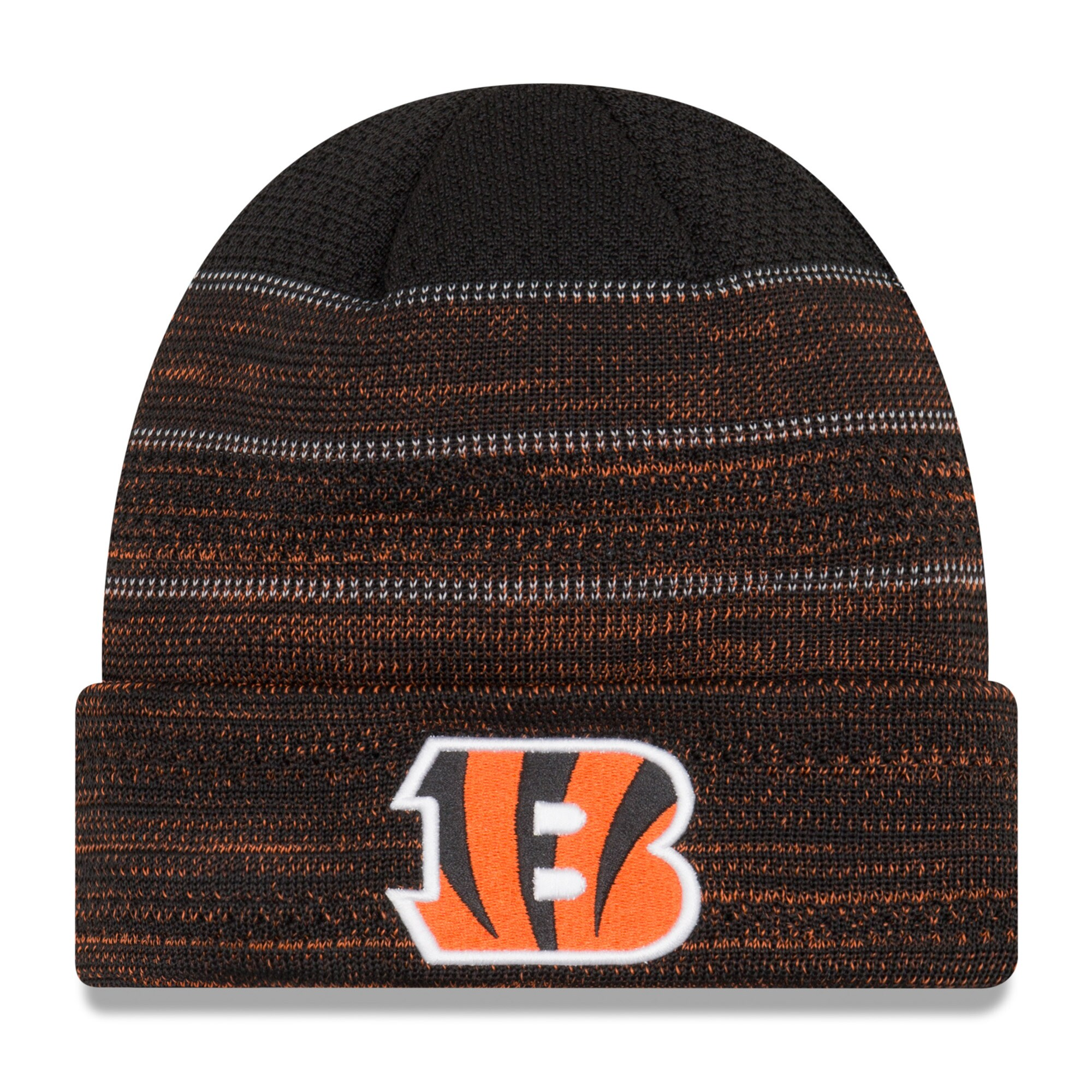 Cincinnati Bengals New Era Youth 2017 Sideline Official TD Knit Hat - Black