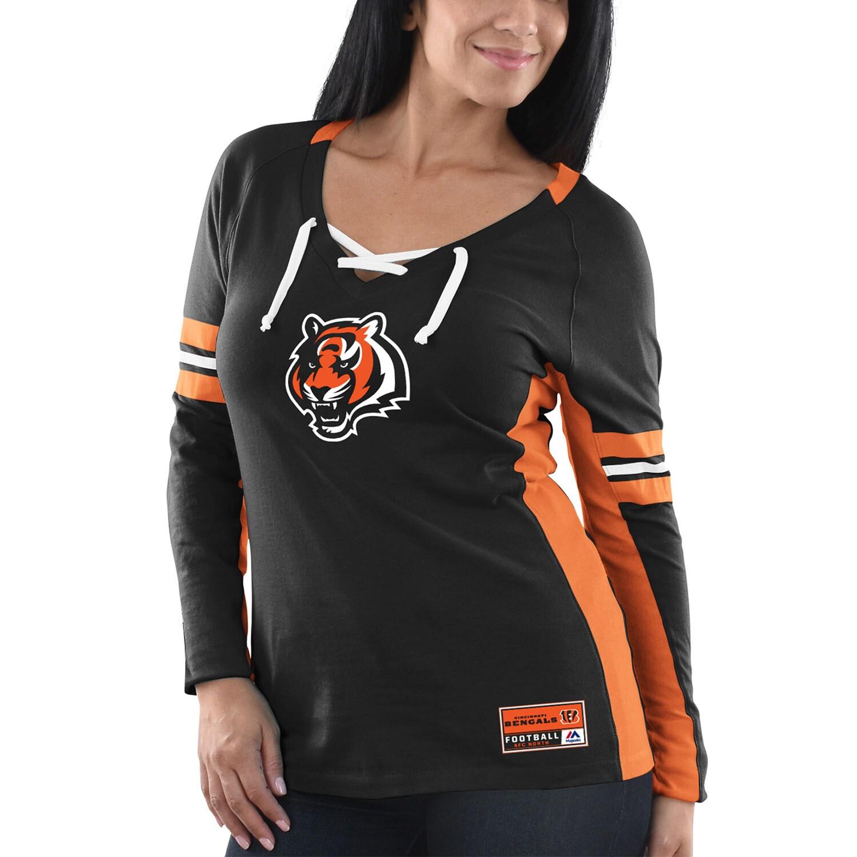 Cincinnati Bengals Majestic Women's Winning Style Long Sleeve T-Shirt - Black