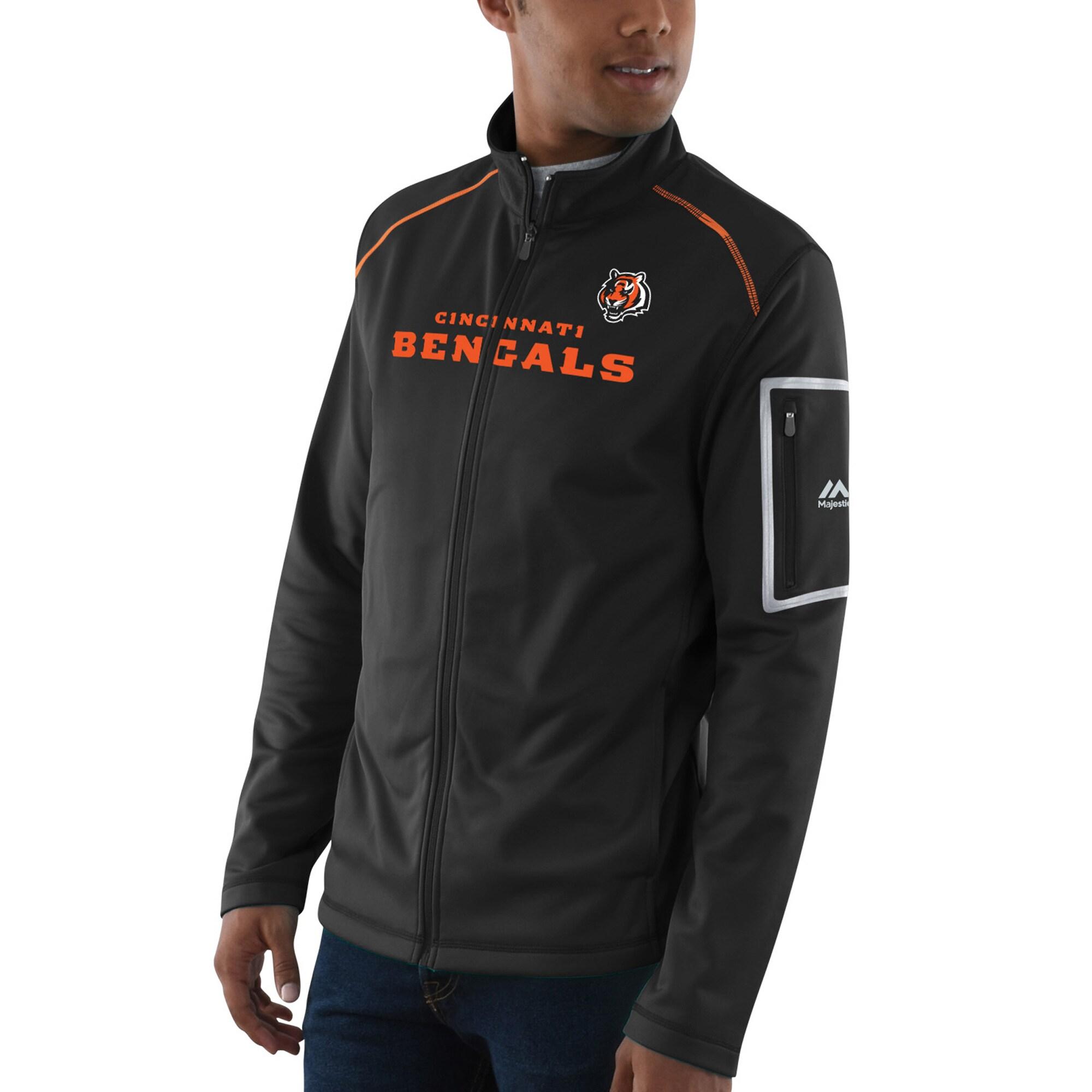 Cincinnati Bengals Majestic Team Tech Track Jacket - Black