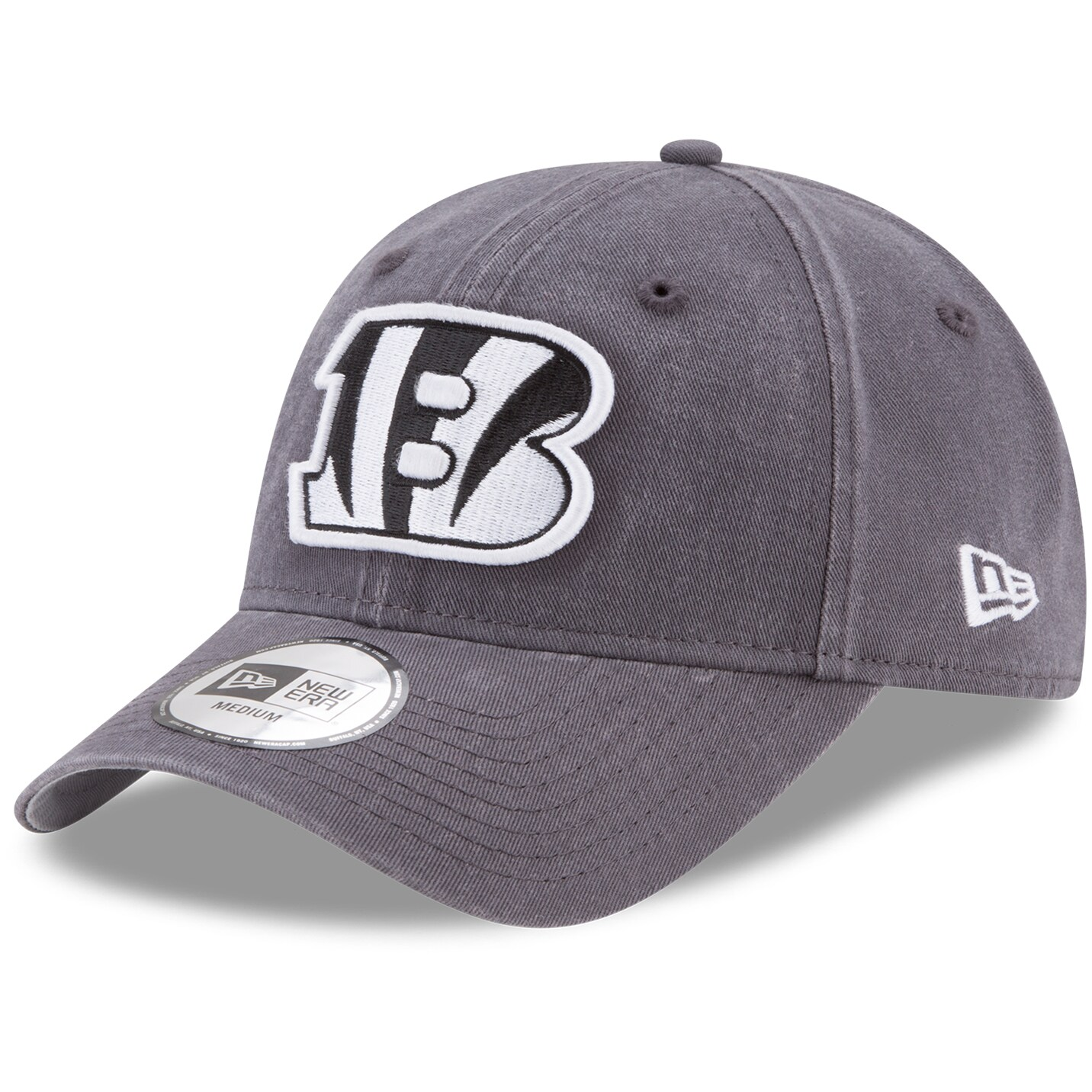 Cincinnati Bengals New Era Sagamore Relaxed 49FORTY Fitted Hat - Charcoal
