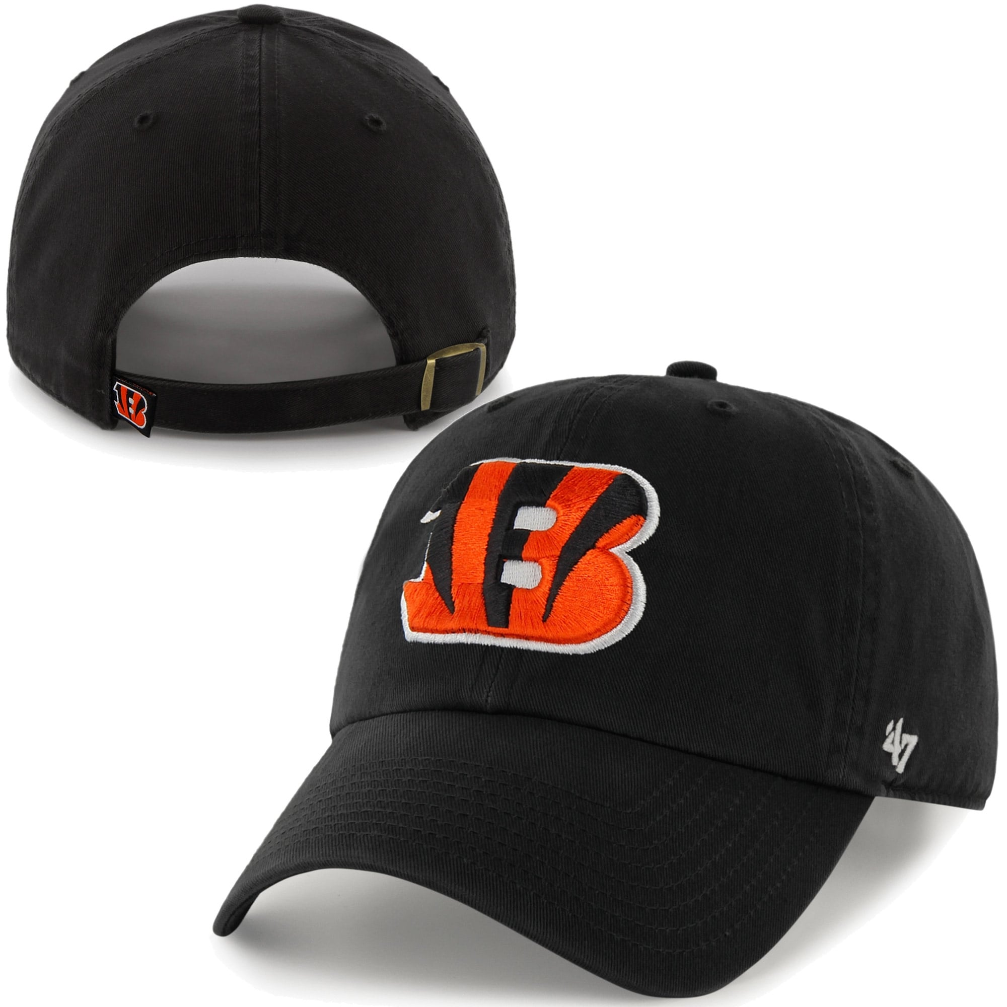 Cincinnati Bengals '47 Brand Cleanup Adjustable Hat - Black