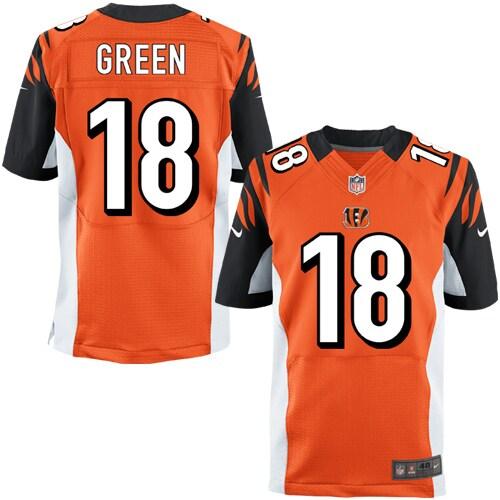 AJ Green Cincinnati Bengals Nike Elite Jersey - Orange