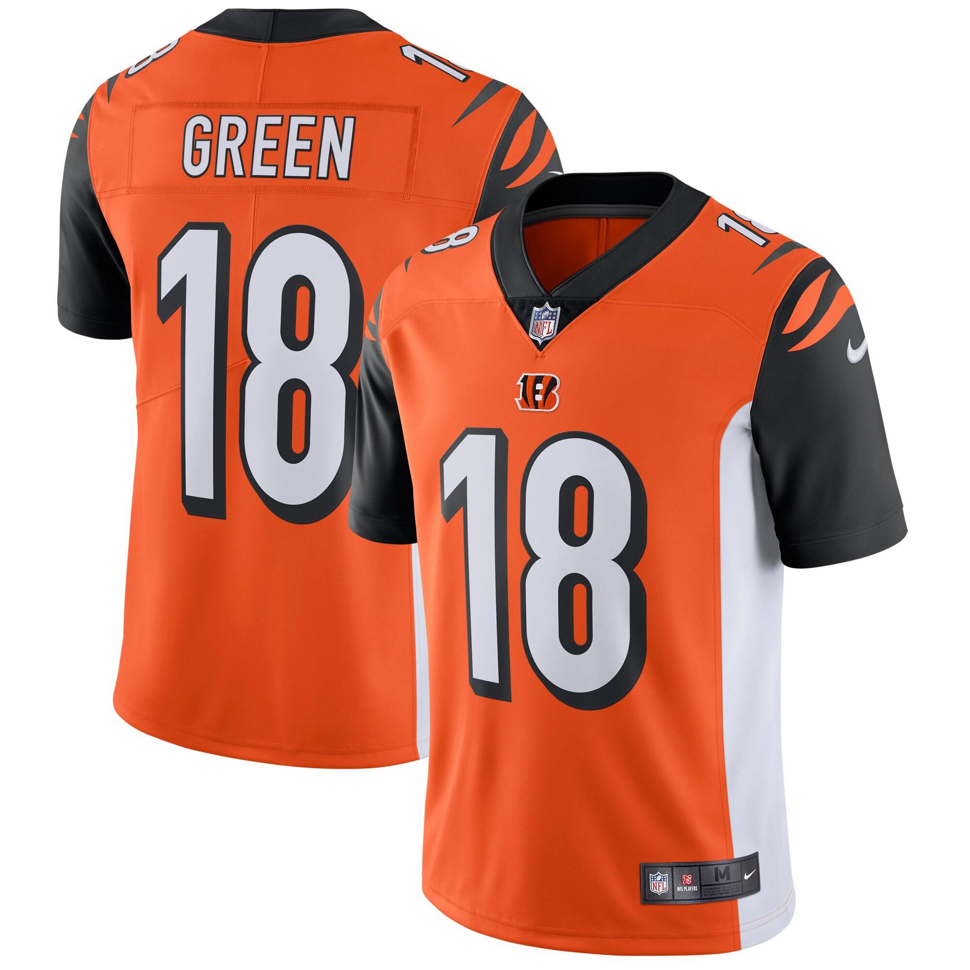 A.J. Green Cincinnati Bengals Nike Vapor Untouchable Limited Player Jersey - Orange