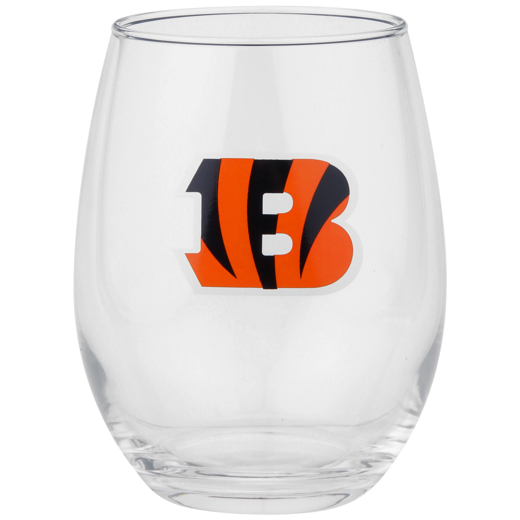 Cincinnati Bengals 15oz. Stemless Wine Glass