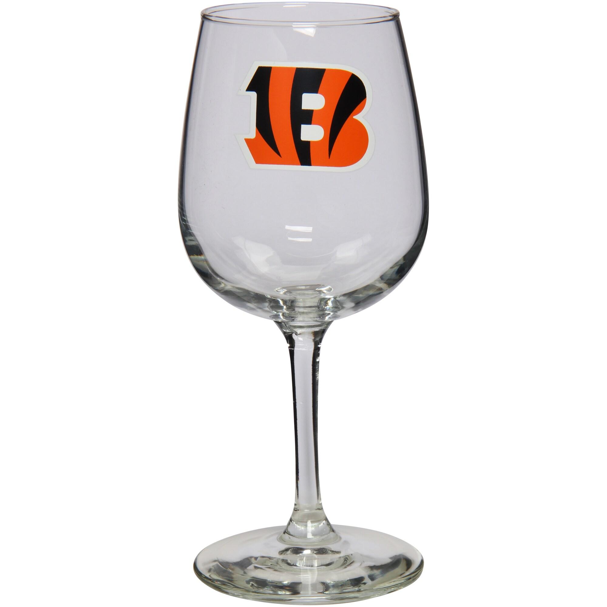 Cincinnati Bengals 12oz. Stemmed Wine Glass