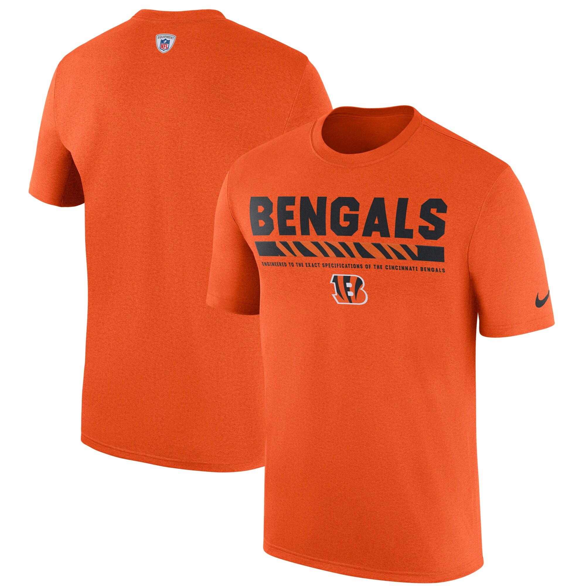 Cincinnati Bengals Nike Sideline Legend Staff Performance T-Shirt - Orange