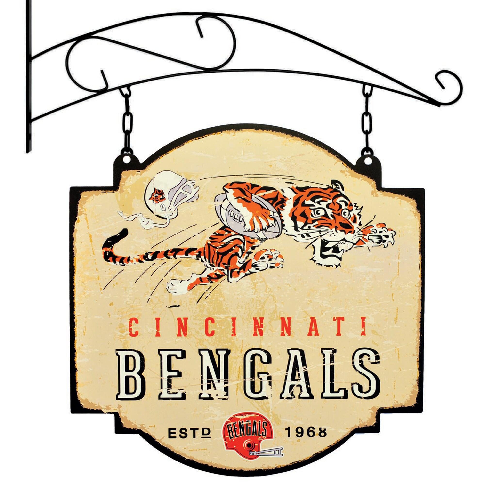 """Cincinnati Bengals 16"""" x 16"""" Tavern Sign - Cream"""