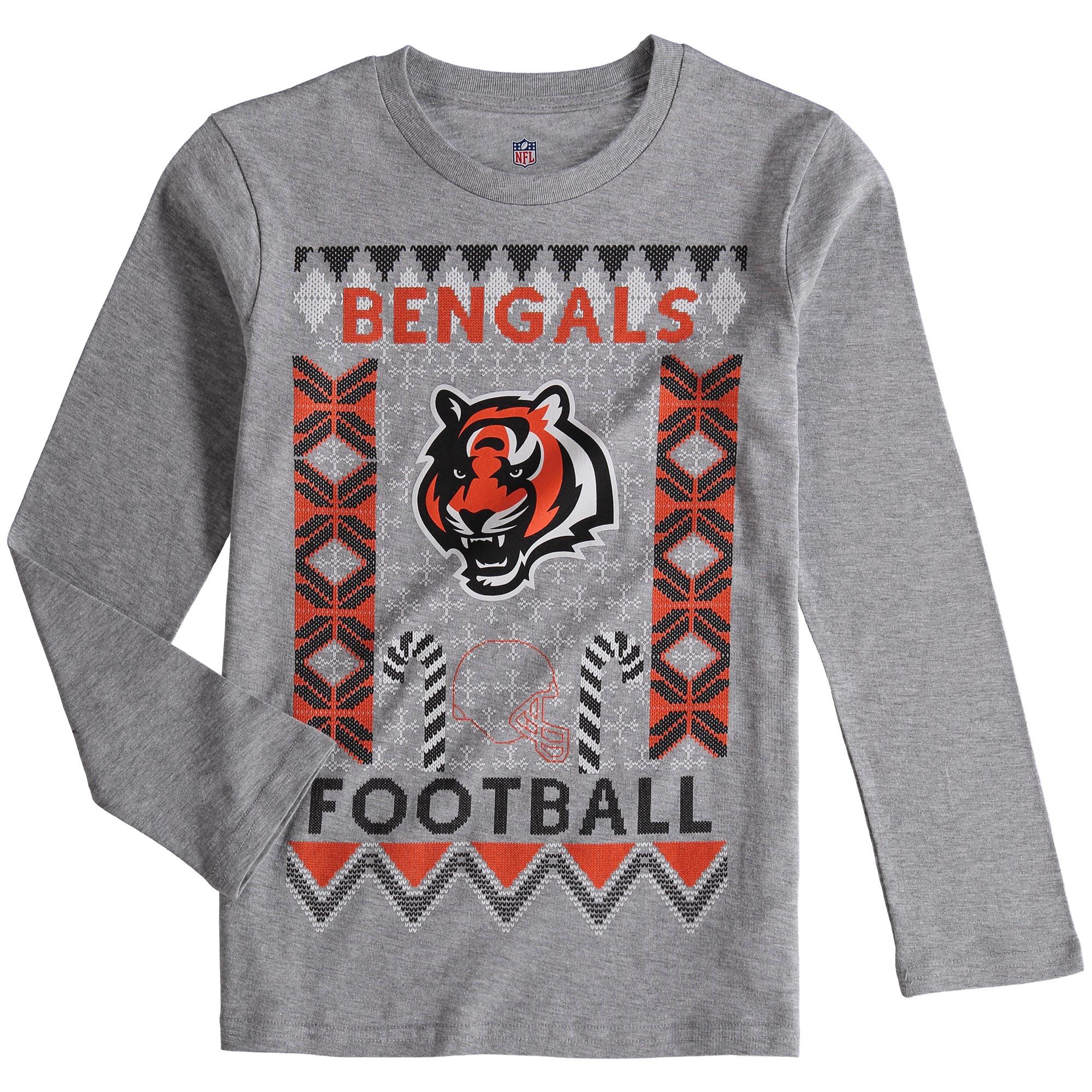 Cincinnati Bengals Youth Blizzard Long Sleeve T-Shirt - Heathered Gray