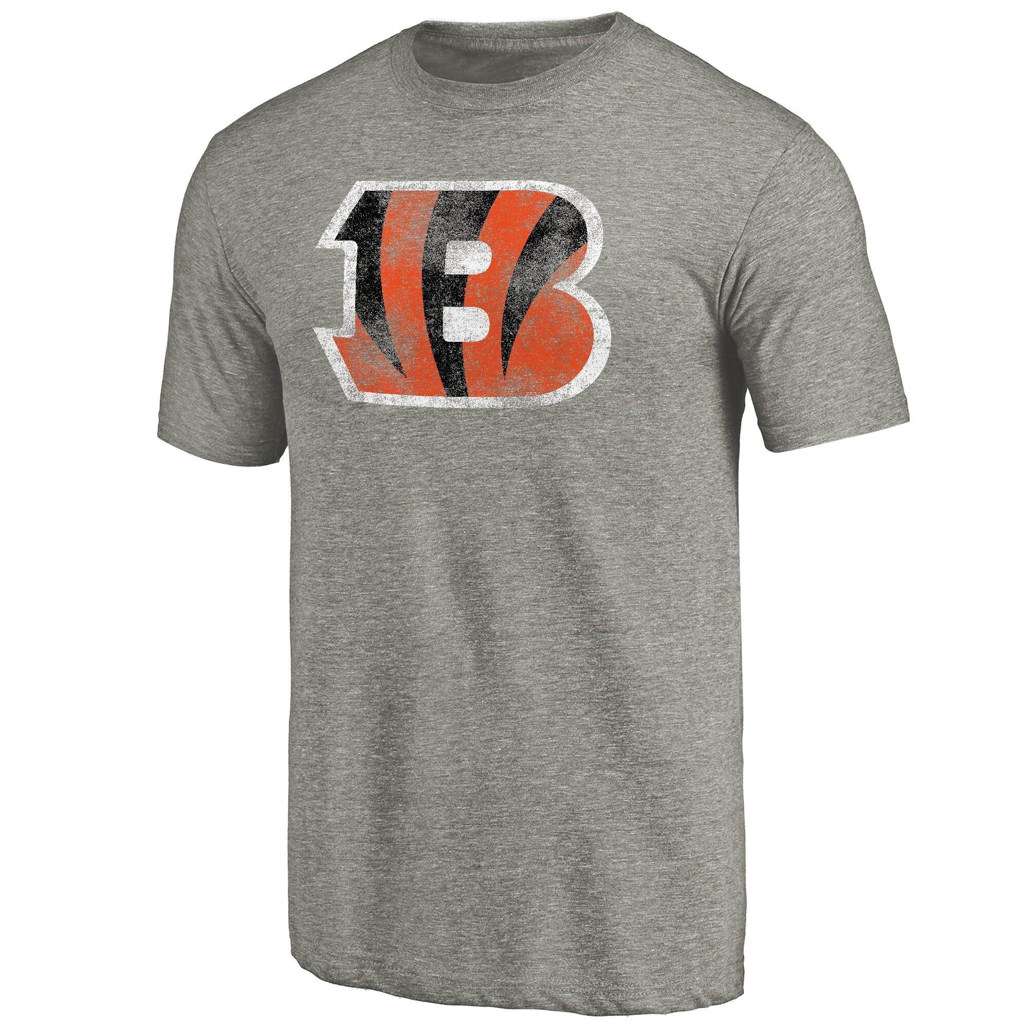 Cincinnati Bengals NFL Pro Line Distressed Team T-Shirt - Ash