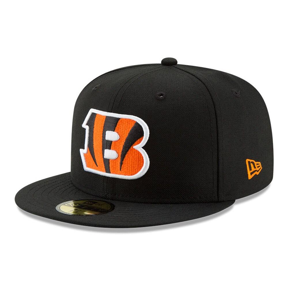 Cincinnati Bengals New Era B Logo Omaha 59FIFTY Fitted Hat - Black