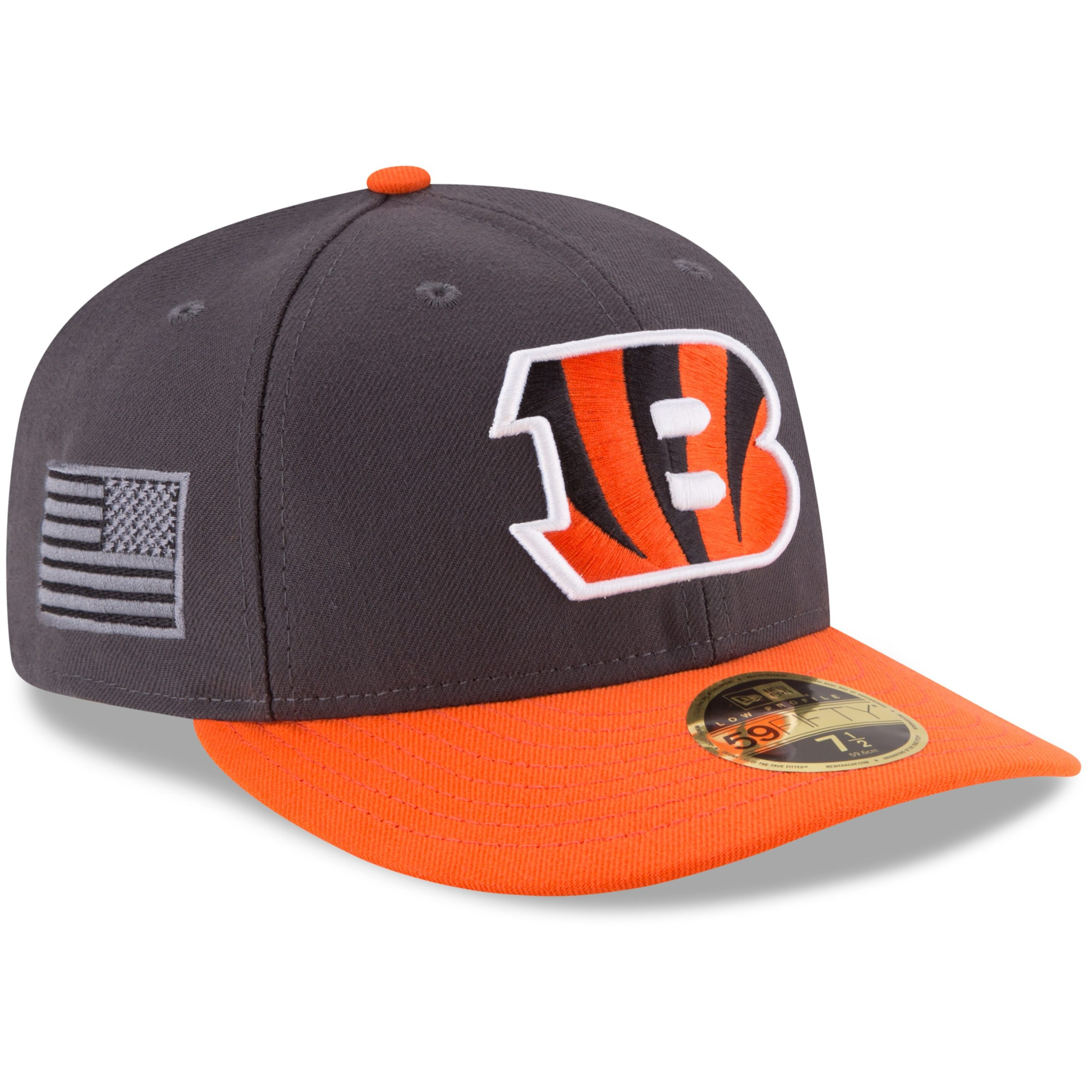 Cincinnati Bengals New Era Crafted In America Low Profile 59FIFTY Fitted Hat - Graphite