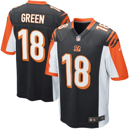 AJ Green Cincinnati Bengals Nike Youth Team Color Game Jersey - Black