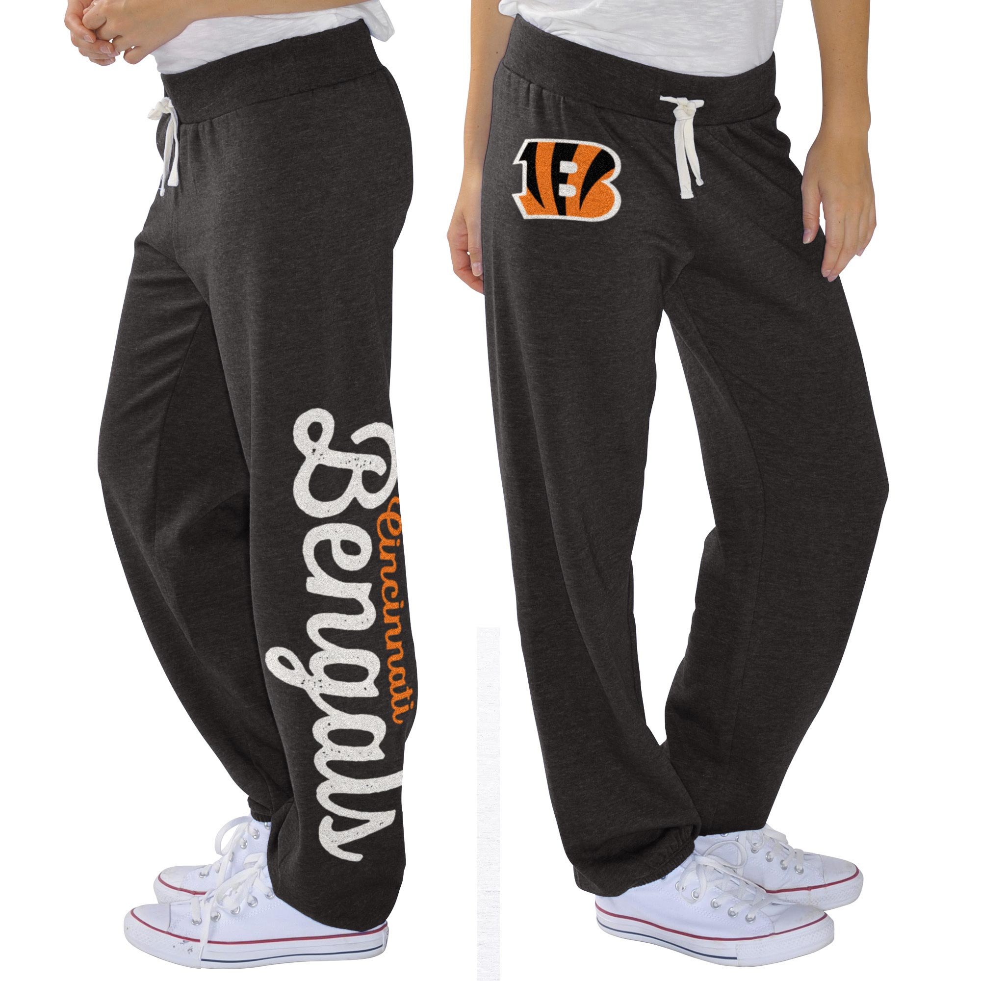 Cincinnati Bengals G-III 4Her by Carl Banks Women's Scrimmage Fleece Pants - Black