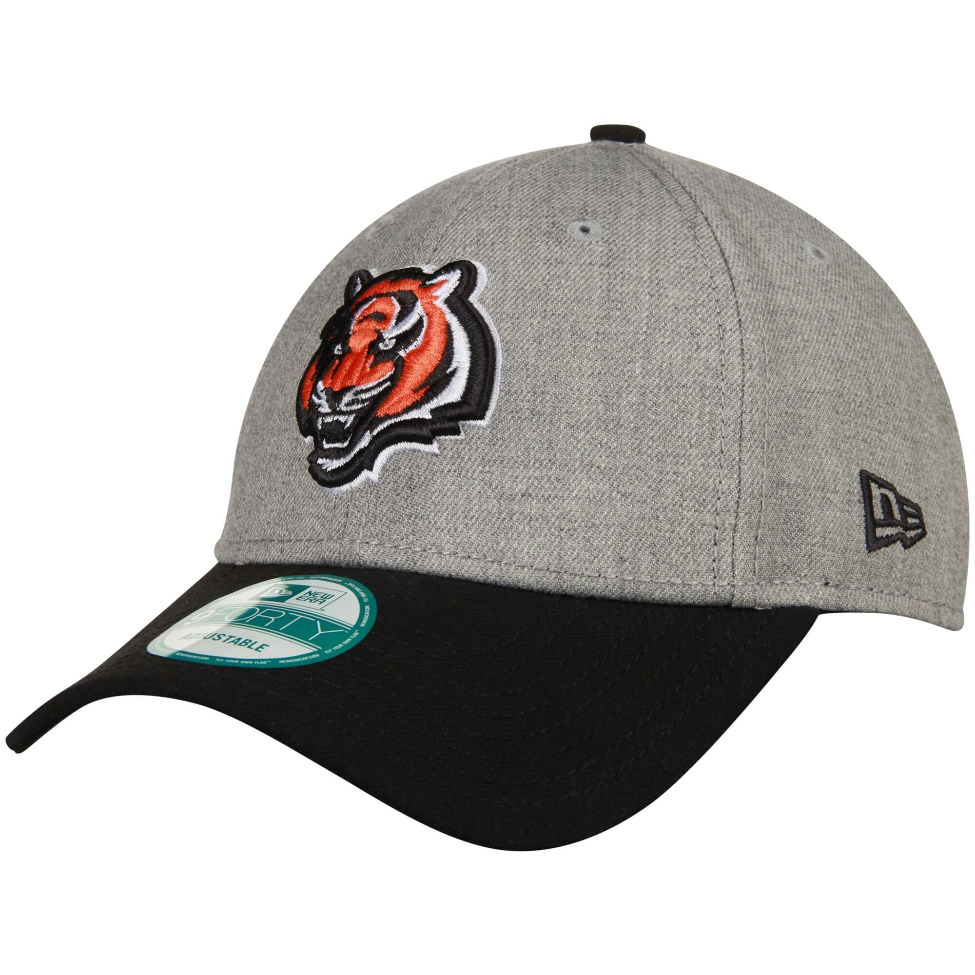 Cincinnati Bengals New Era The League 9FORTY Adjustable Hat - Heather Gray