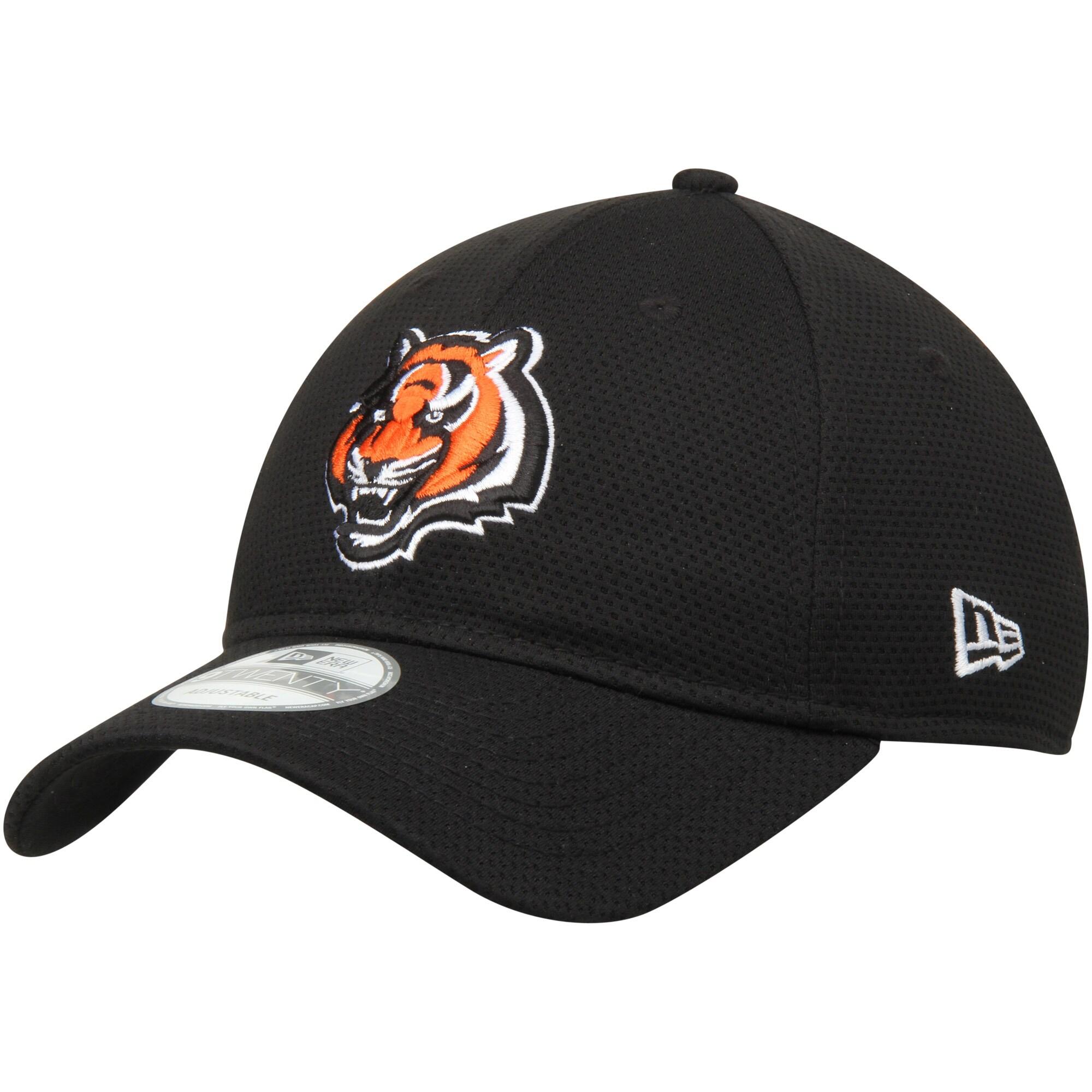 Cincinnati Bengals New Era Perf Shore Training Mesh 9TWENTY Adjustable Hat - Black