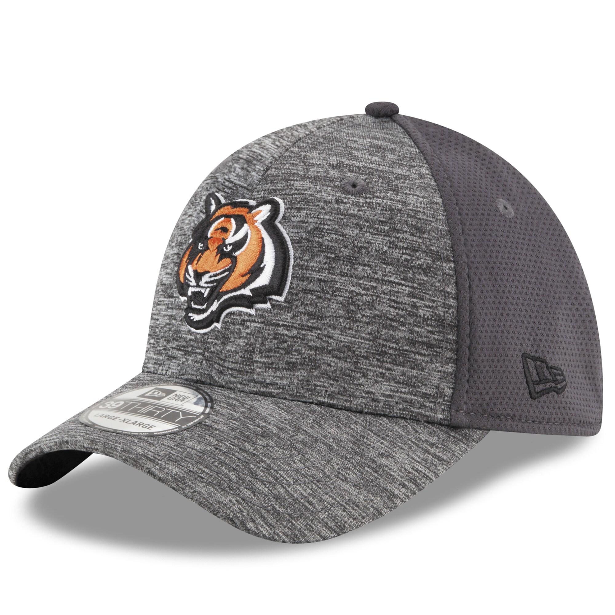 Cincinnati Bengals New Era Shadowed Team 39THIRTY Flex Hat - Heathered Gray/Graphite