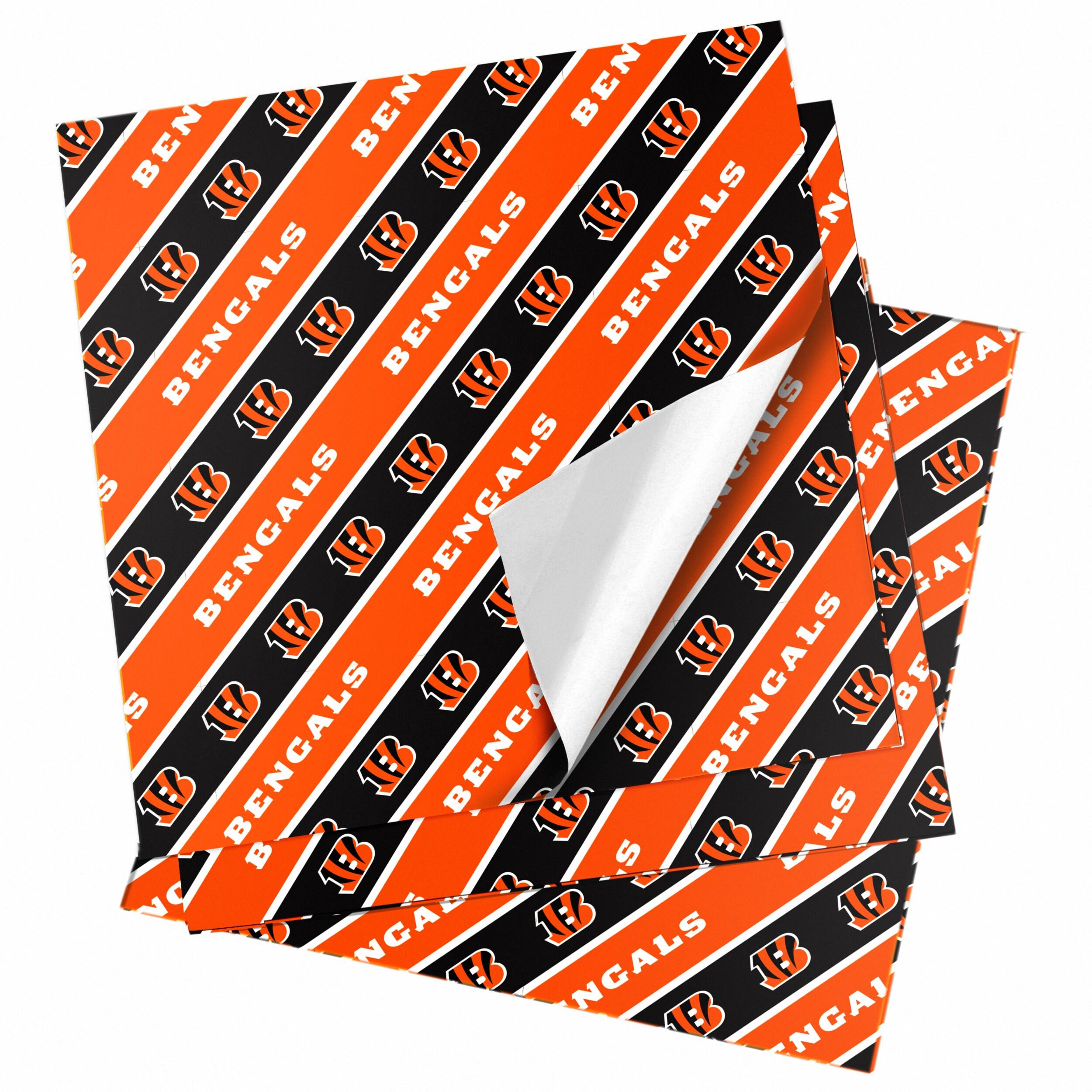 "Cincinnati Bengals 20"" x 30"" Wrapping Paper"