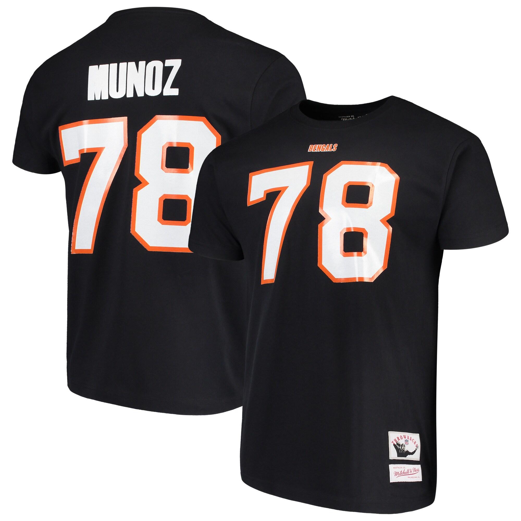 Anthony Munoz Cincinnati Bengals Mitchell & Ness Retired Player Name & Number T-Shirt - Black