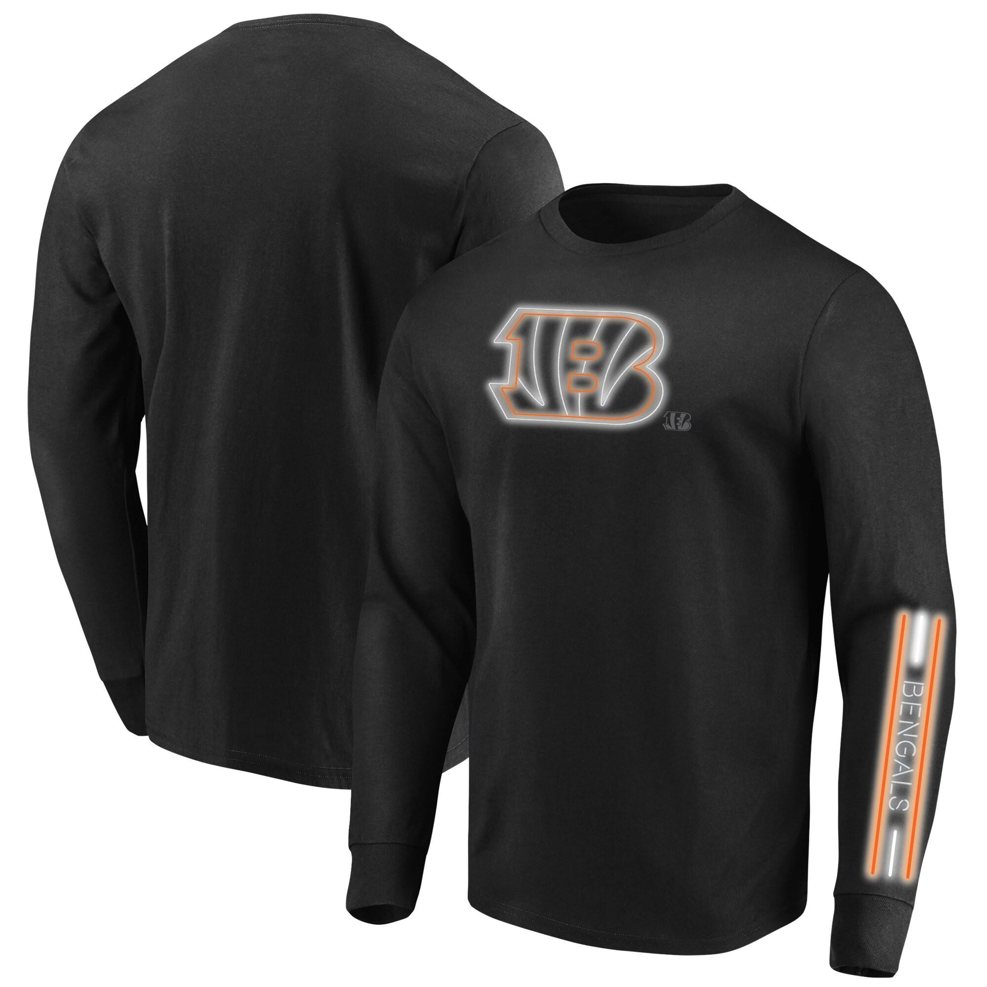 Cincinnati Bengals Majestic Big & Tall Startling Success Long Sleeve T-Shirt - Black