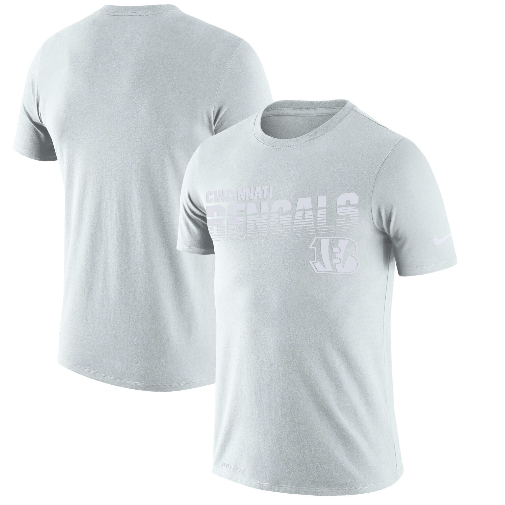 Cincinnati Bengals Nike Youth NFL 100 2019 Sideline Platinum Performance T-Shirt - White
