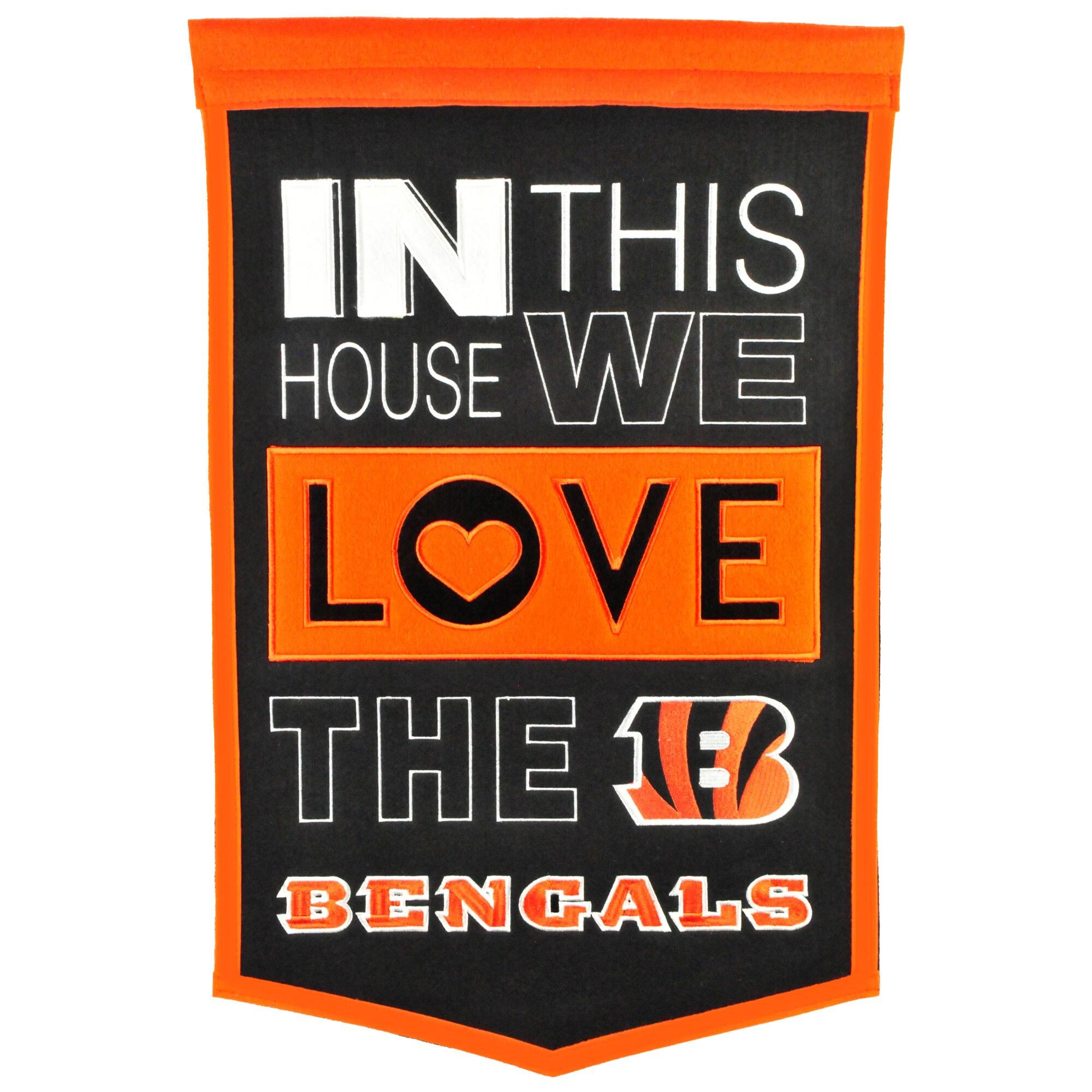 Cincinnati Bengals 15'' x 24'' Home Banner