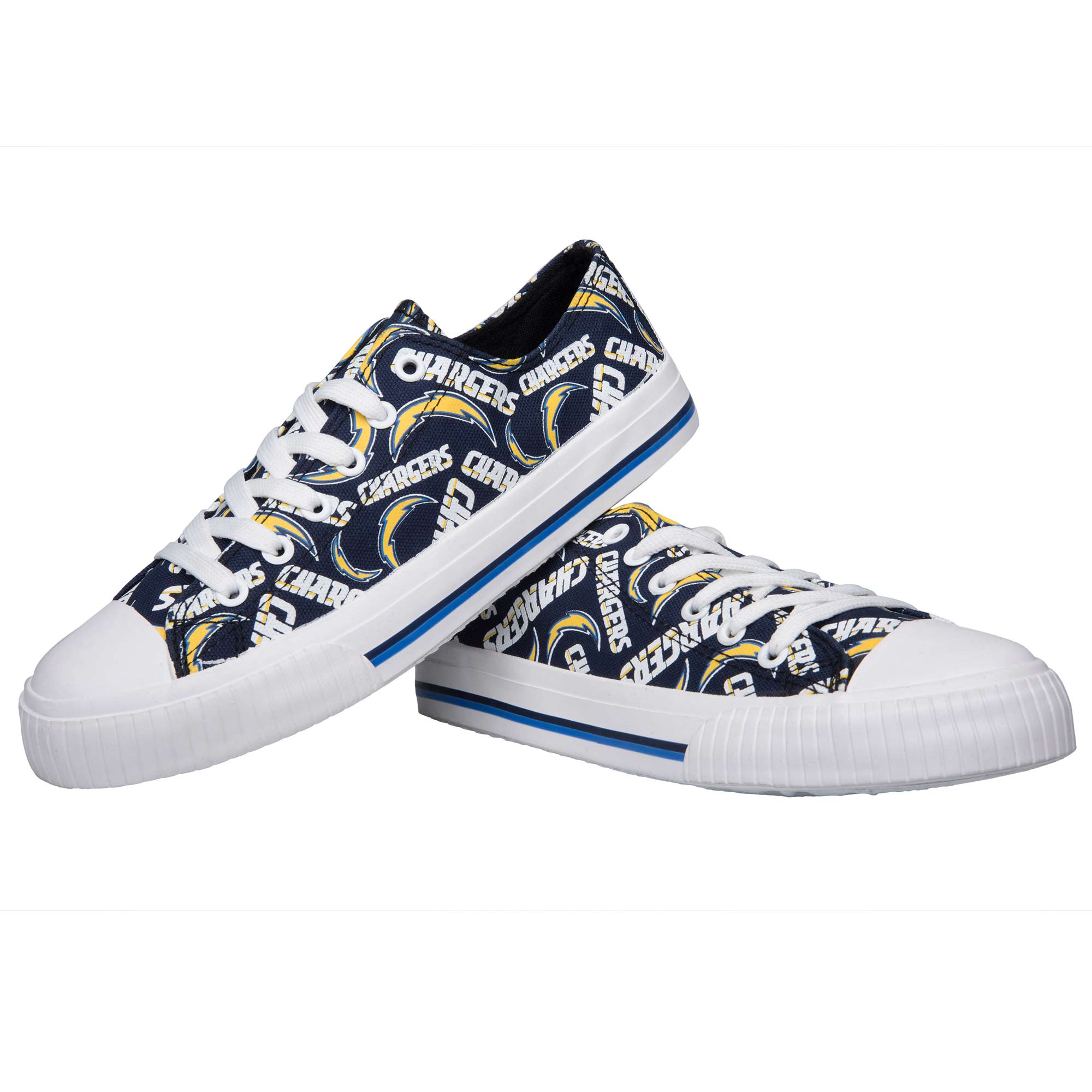 Los Angeles Chargers Women's Repeat Print Low Top Sneakers