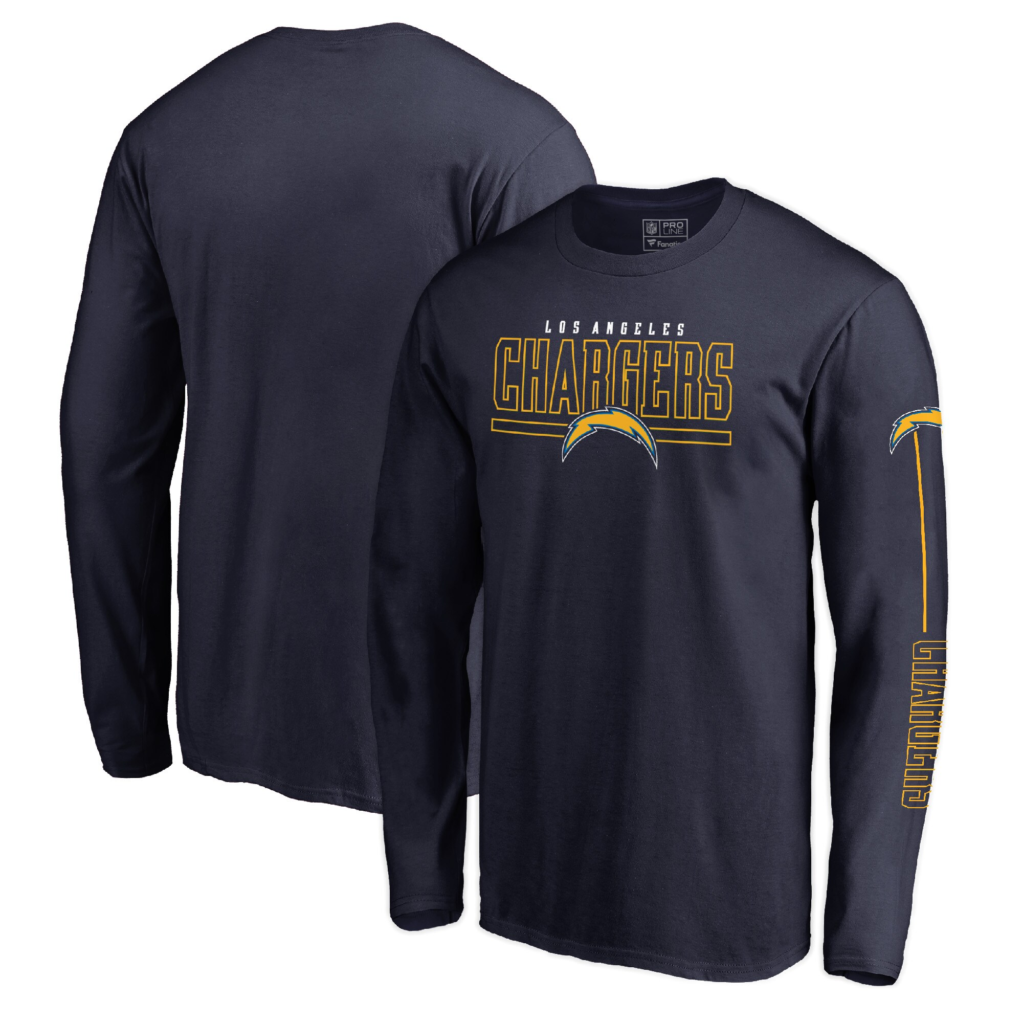 Los Angeles Chargers NFL Pro Line by Fanatics Branded Front Line Long Sleeve T-Shirt - Navy