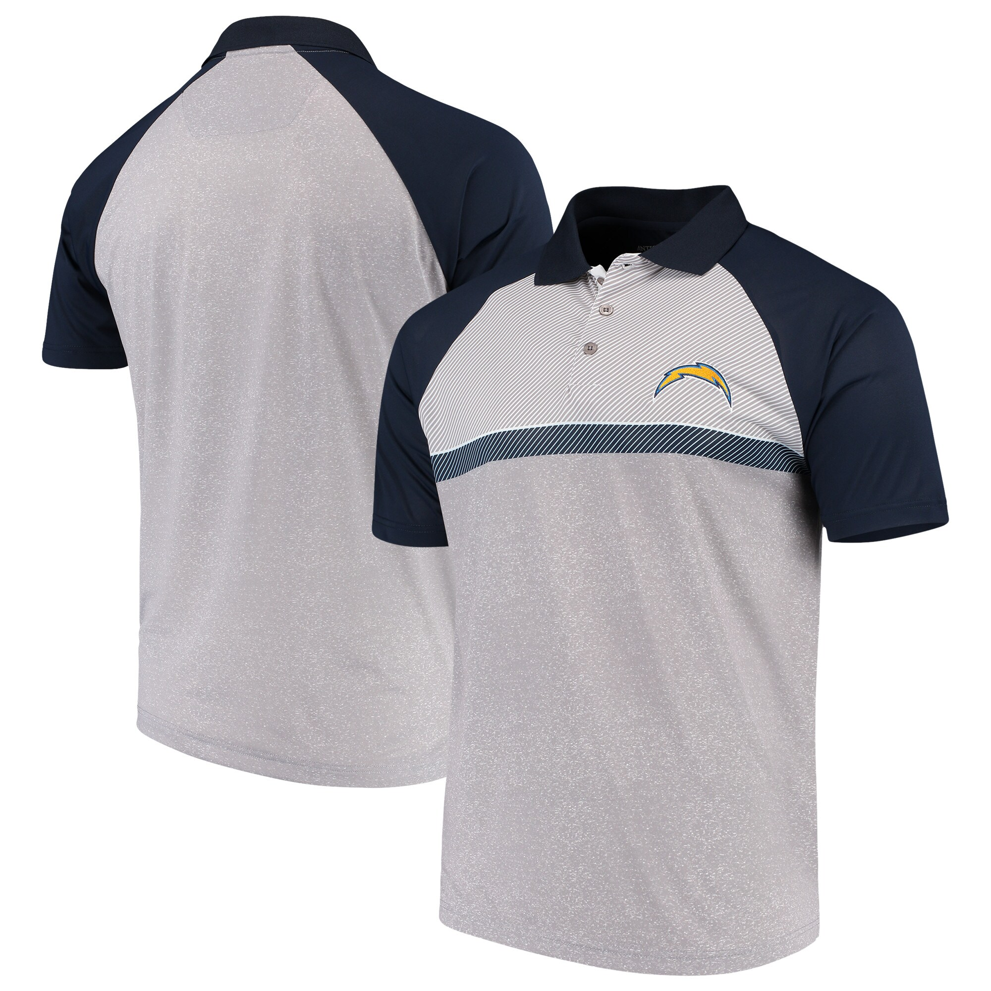 Los Angeles Chargers Antigua Momentum Polo - Gray/Navy