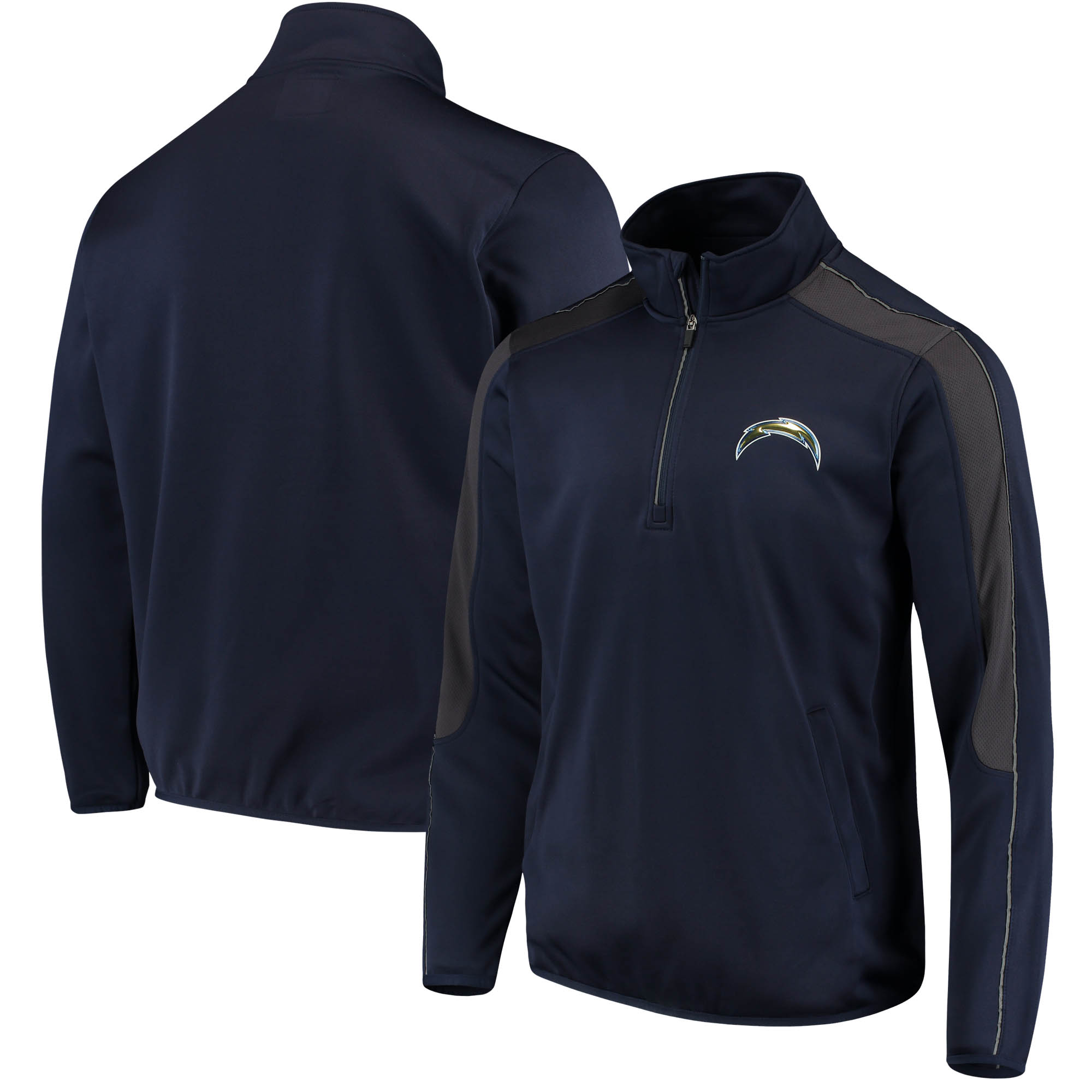 Los Angeles Chargers G-III Sports by Carl Banks I Formation Quarter-Zip Pullover Jacket - Navy