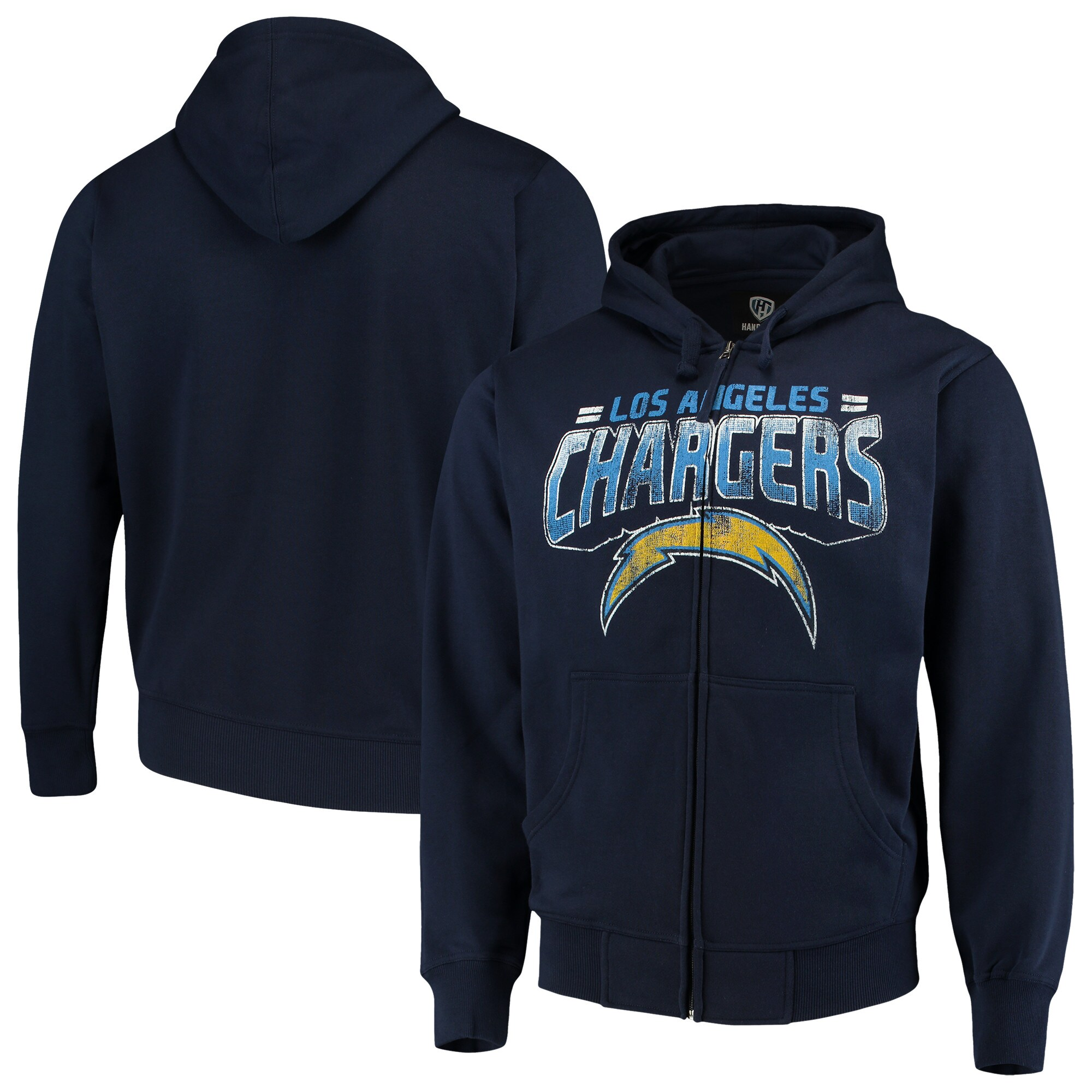 Los Angeles Chargers G-III Sports by Carl Banks Perfect Season Full-Zip Hoodie - Navy