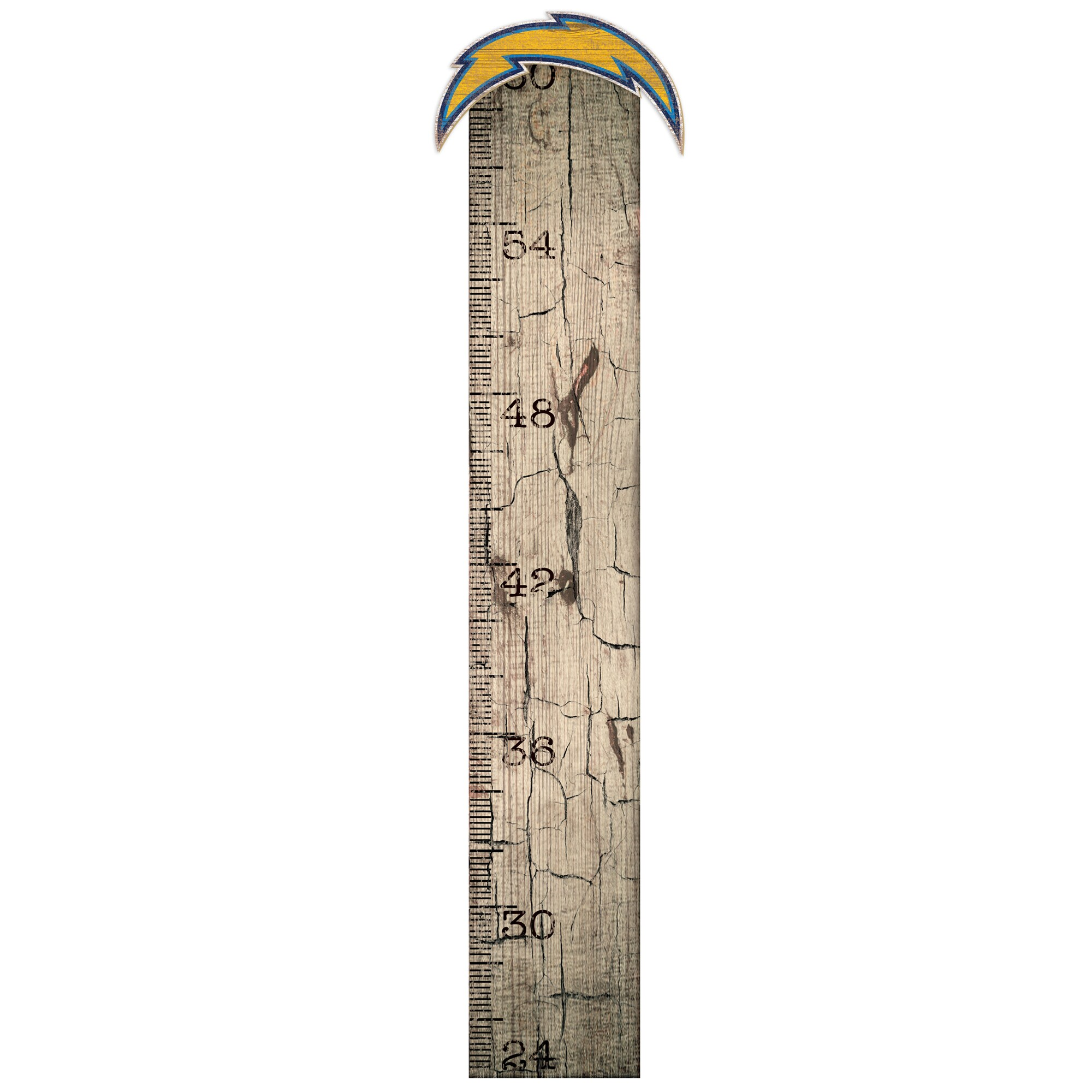 """Los Angeles Chargers 6"""" x 36"""" Growth Chart Sign"""