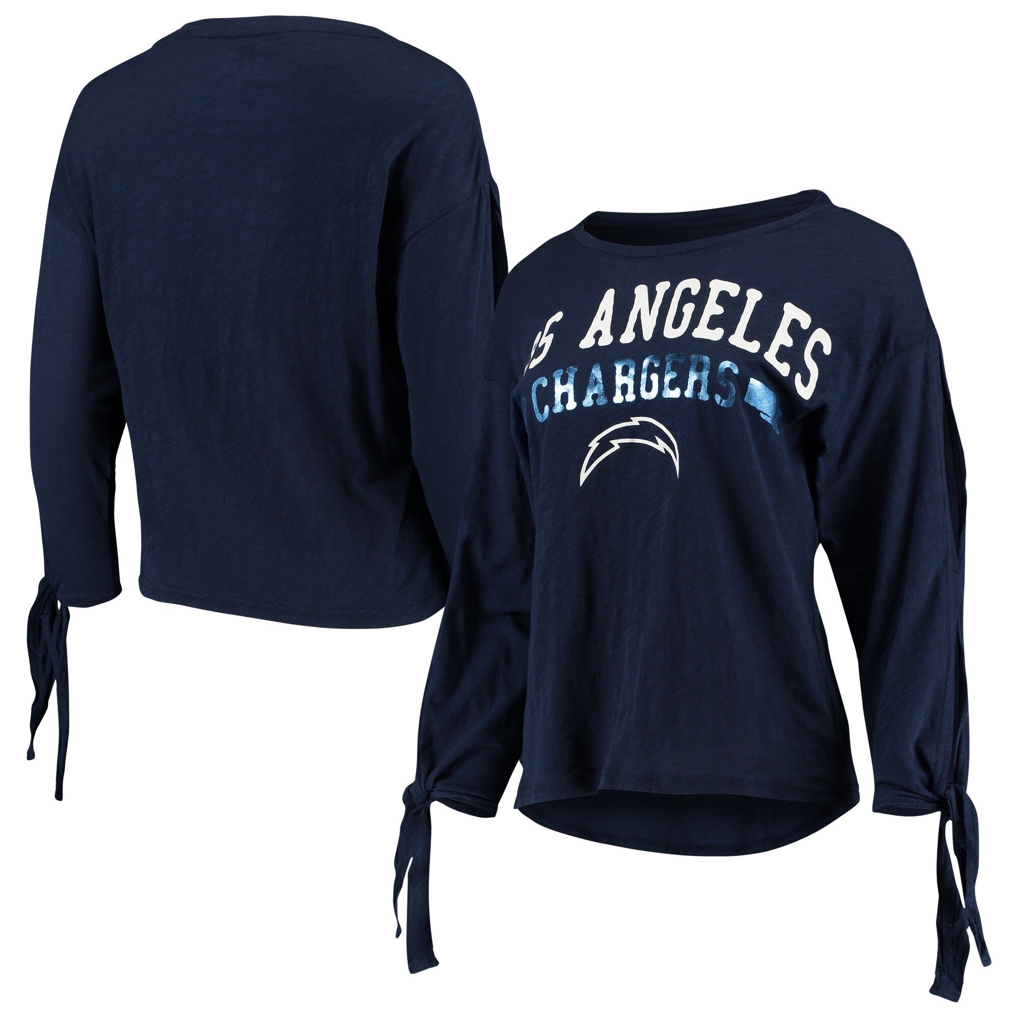 Los Angeles Chargers Touch by Alyssa Milano Women's On The Fly Long Sleeve T-Shirt - Navy