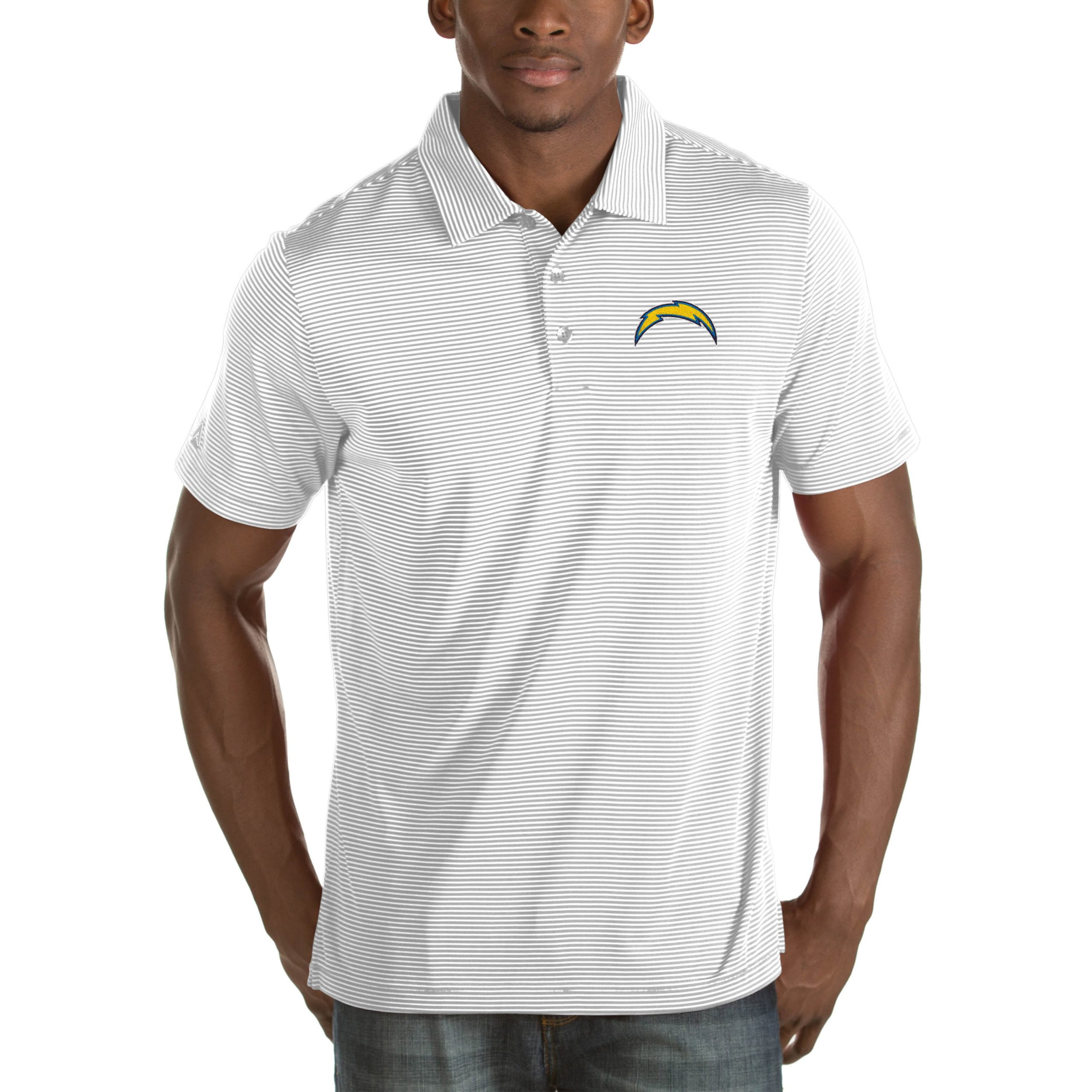 Los Angeles Chargers Antigua Quest Big & Tall Polo - White