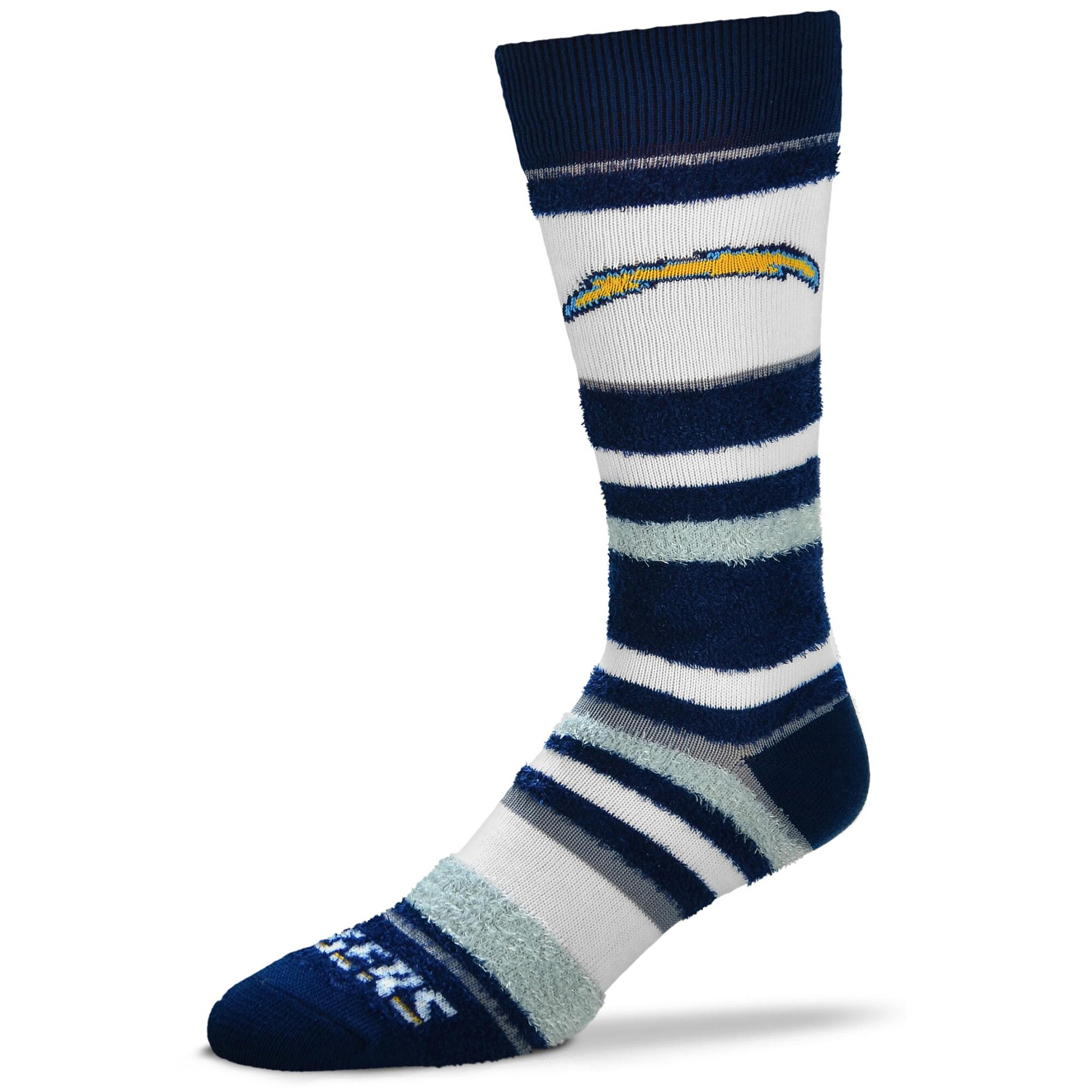 Los Angeles Chargers For Bare Feet Women's Soft Stripe Quarter-Length Socks