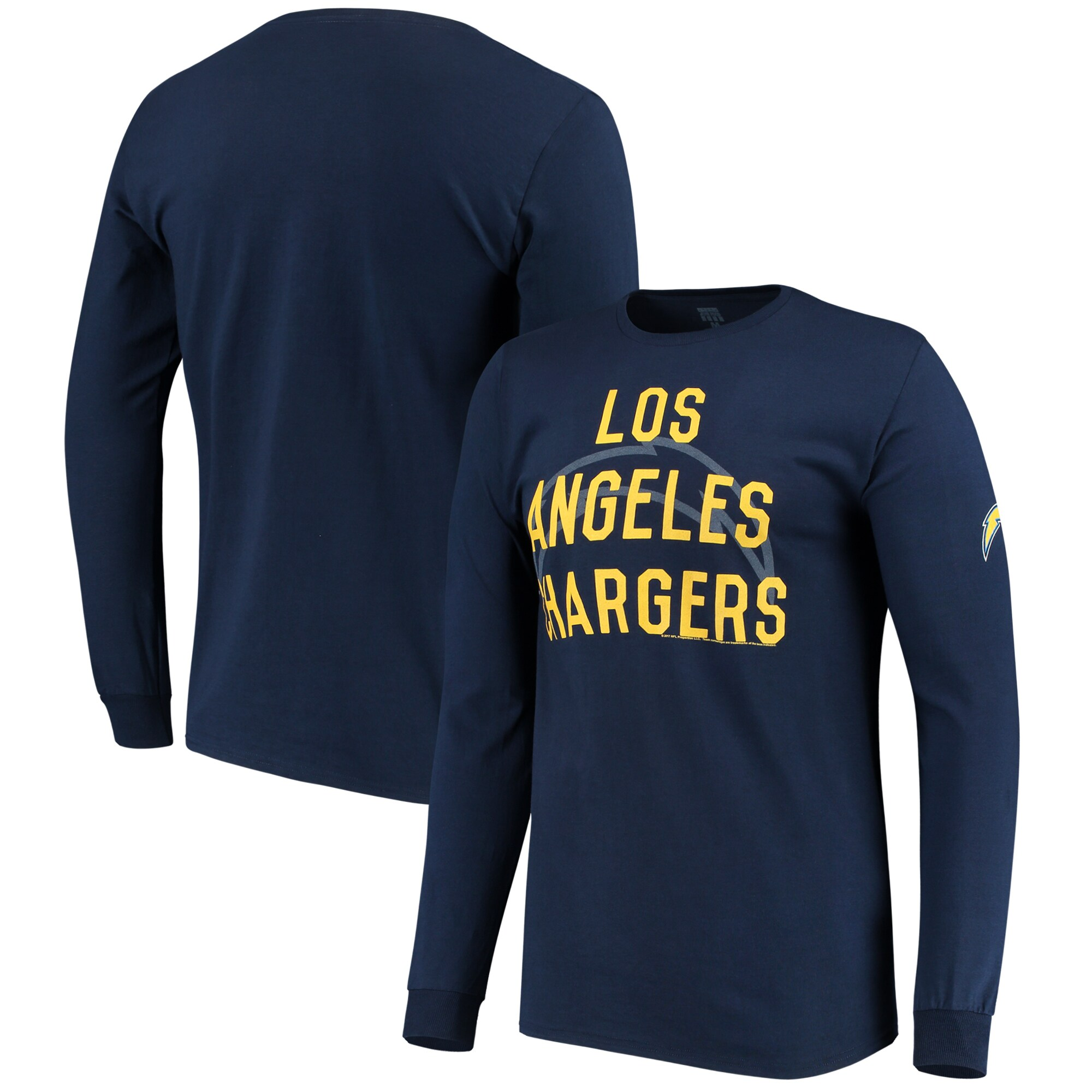 Los Angeles Chargers Fade Route Long Sleeve T-Shirt - Navy