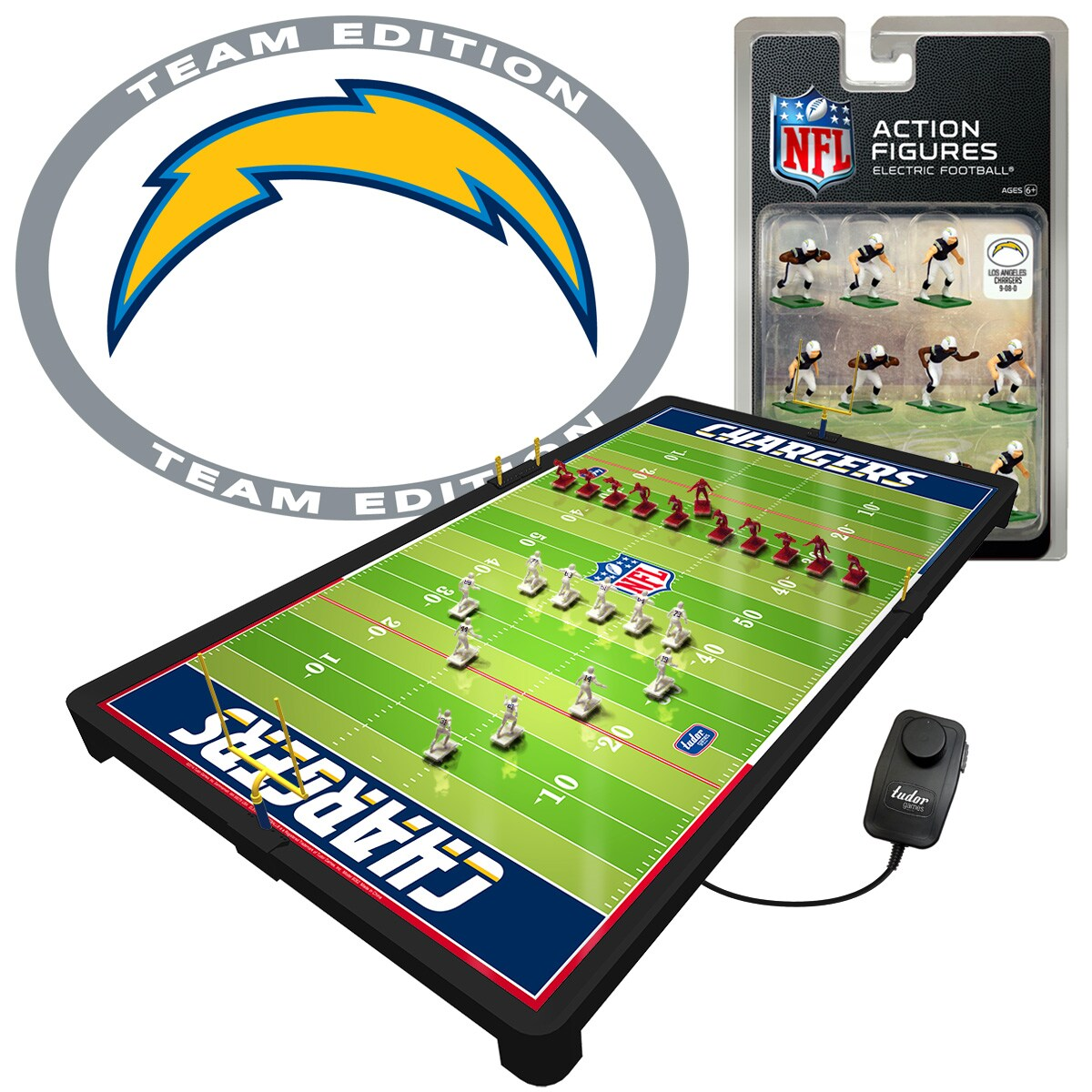 Los Angeles Chargers Deluxe Electric Football Game