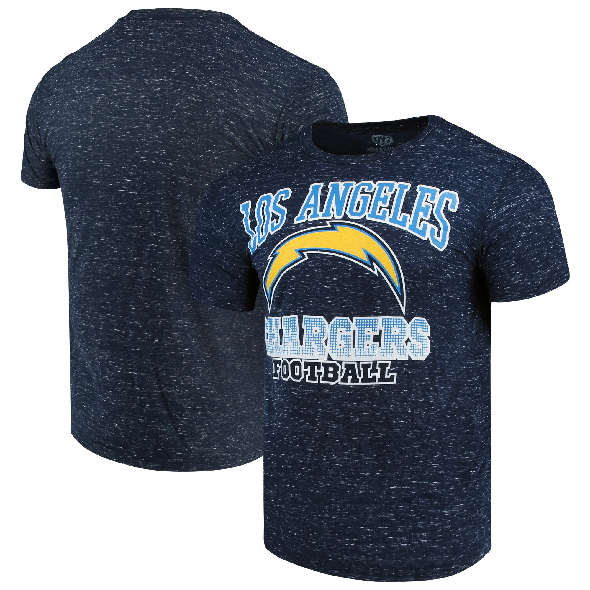 Los Angeles Chargers G-III Sports by Carl Banks Outfield Speckle T-Shirt - Navy