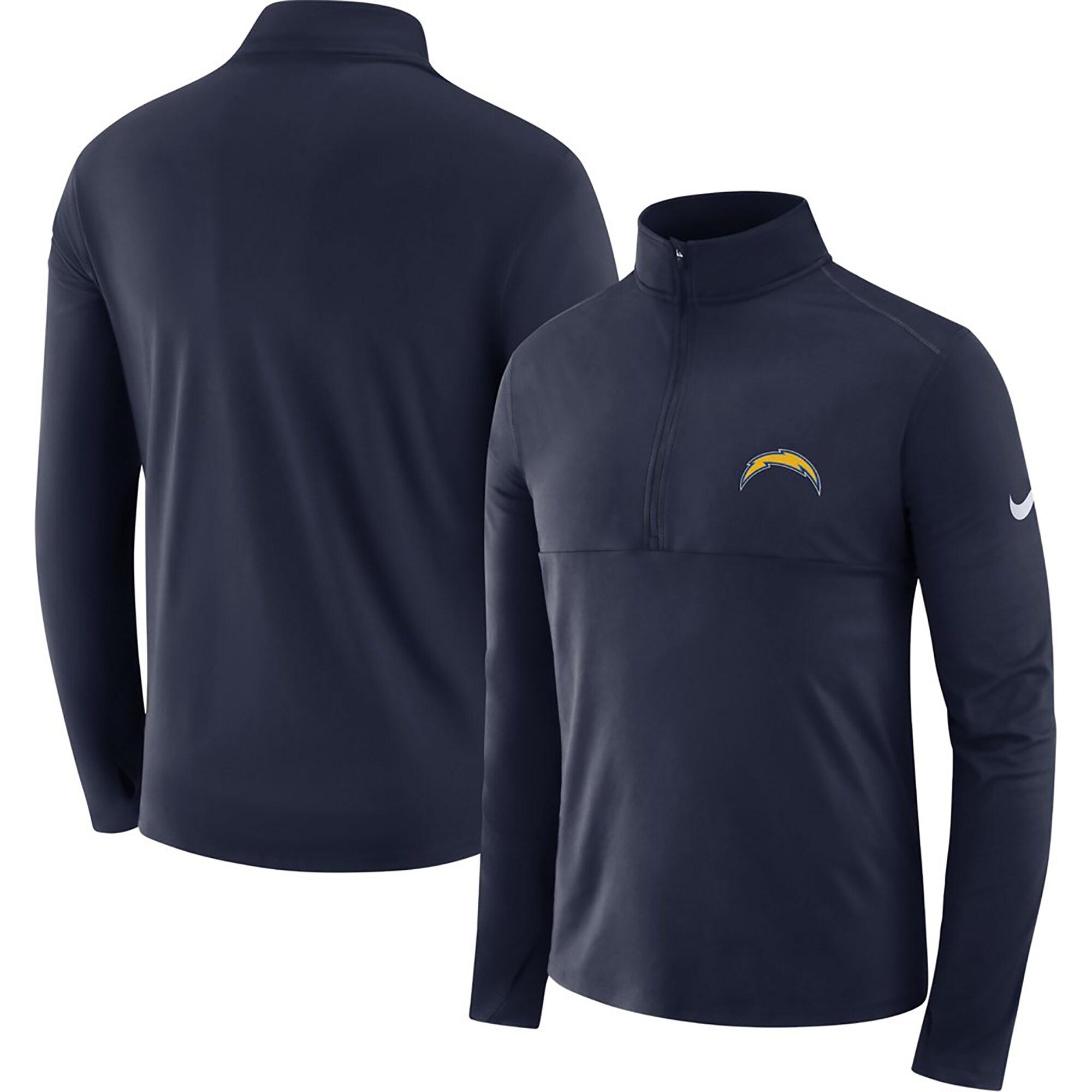 Los Angeles Chargers Nike Fan Gear Element Half-Zip Performance Jacket - Navy