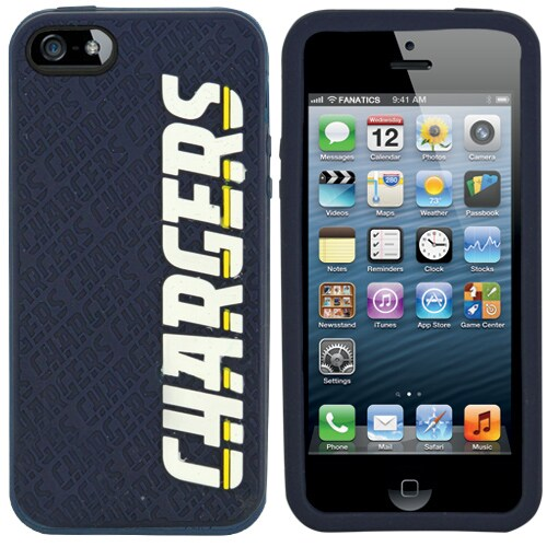 Los Angeles Chargers Silicone iPhone 5 Cover - Navy Blue