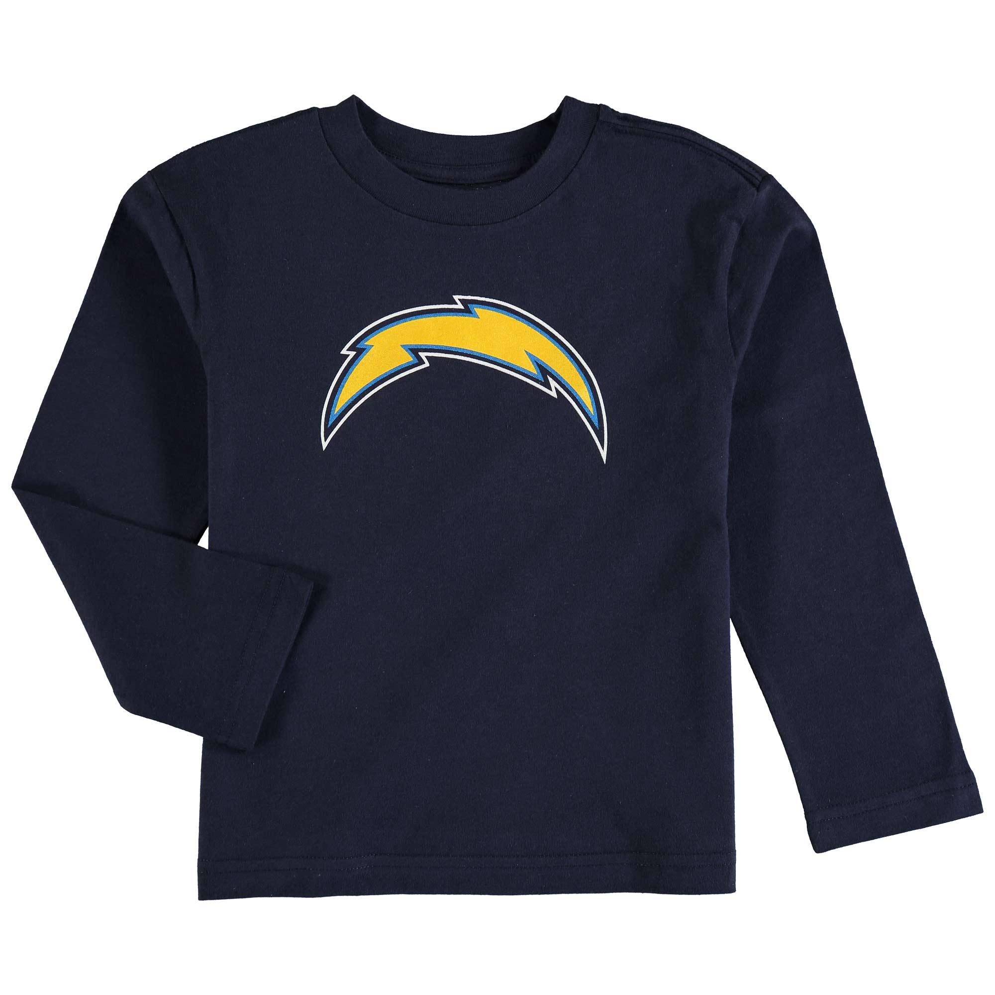 Los Angeles Chargers Preschool Team Logo Long Sleeve T-Shirt - Navy