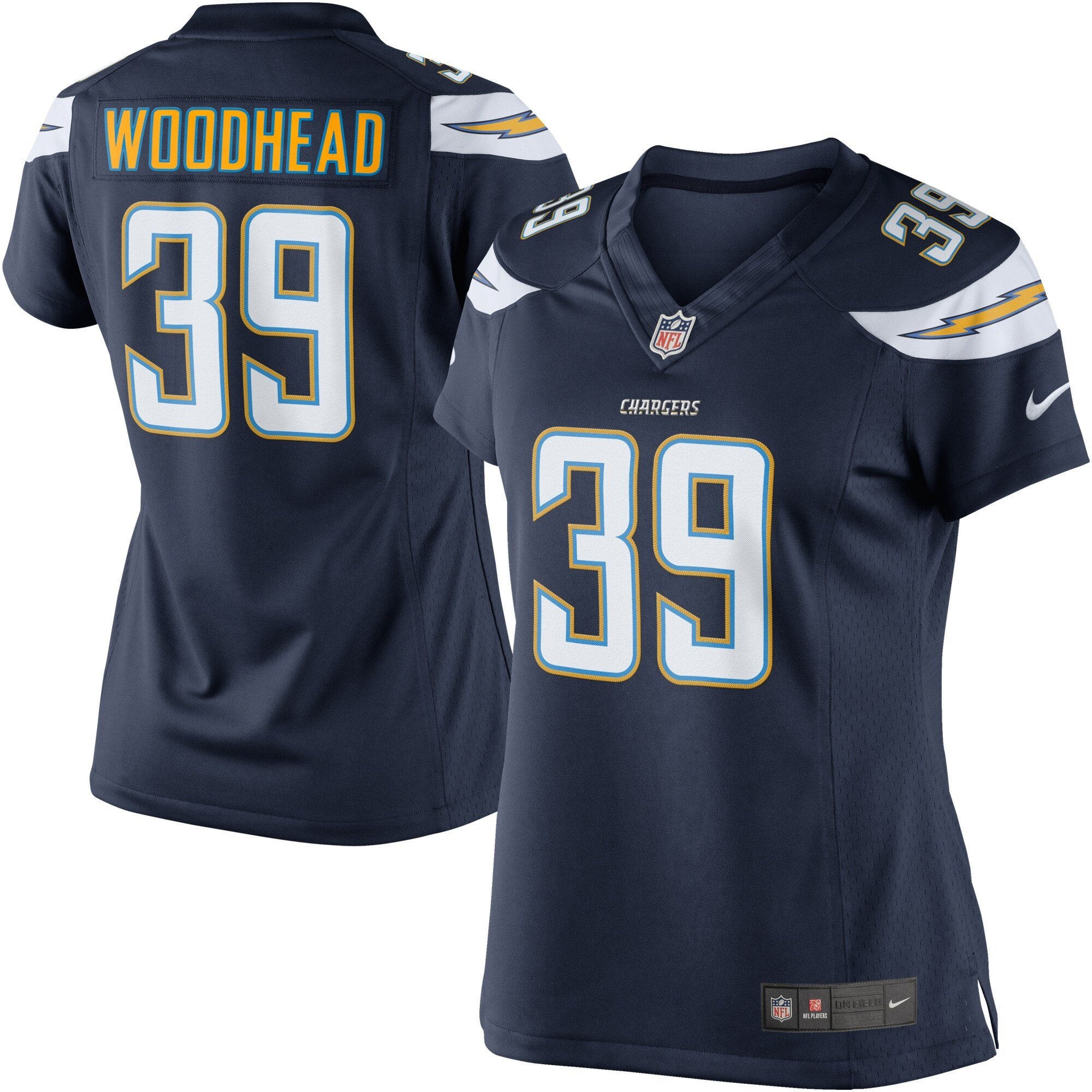 Danny Woodhead Los Angeles Chargers Nike Women's Limited Jersey - Navy Blue