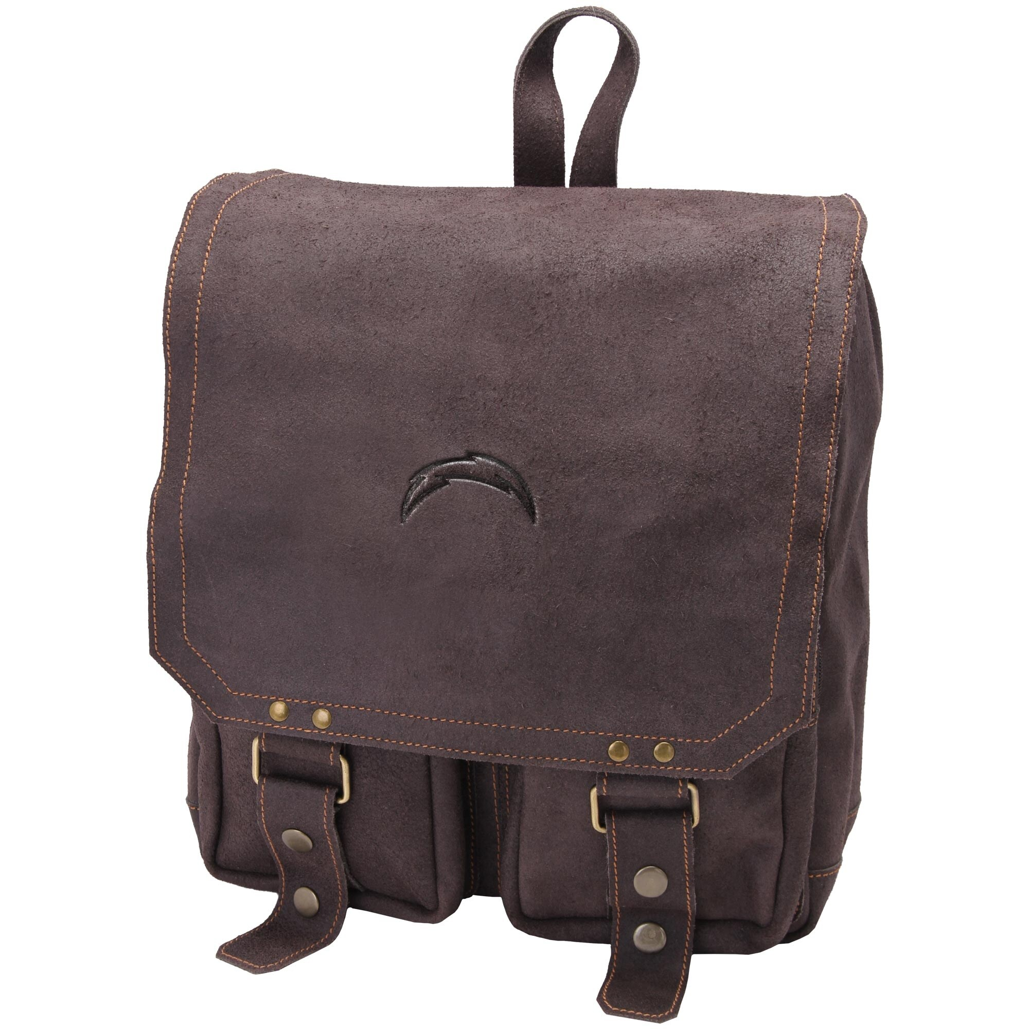 Los Angeles Chargers Distressed Laptop Backpack - Brown
