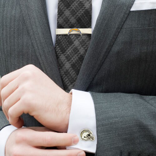 Los Angeles Chargers Tie Bar & Cufflinks Set