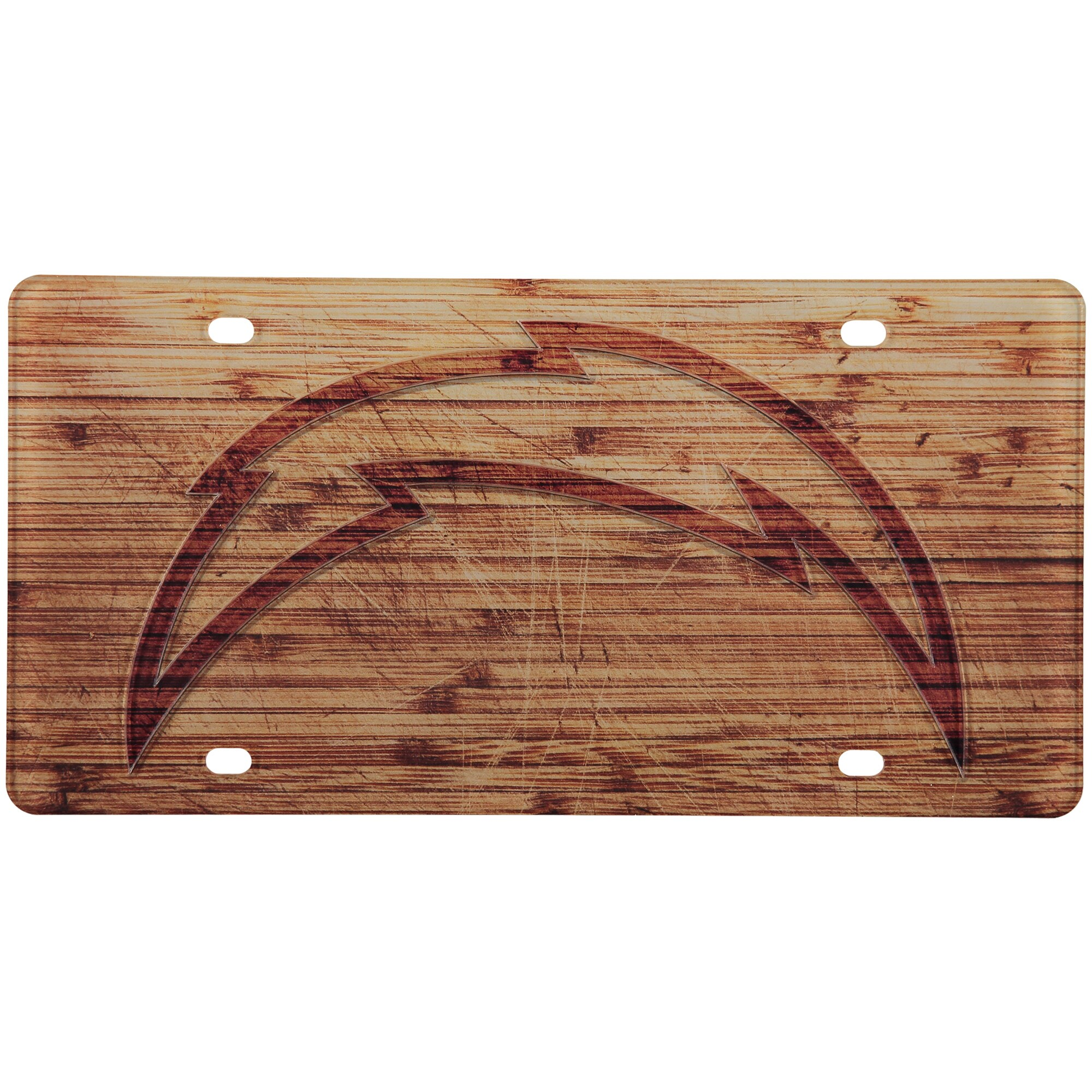 Los Angeles Chargers Wood Design Acrylic License Plate