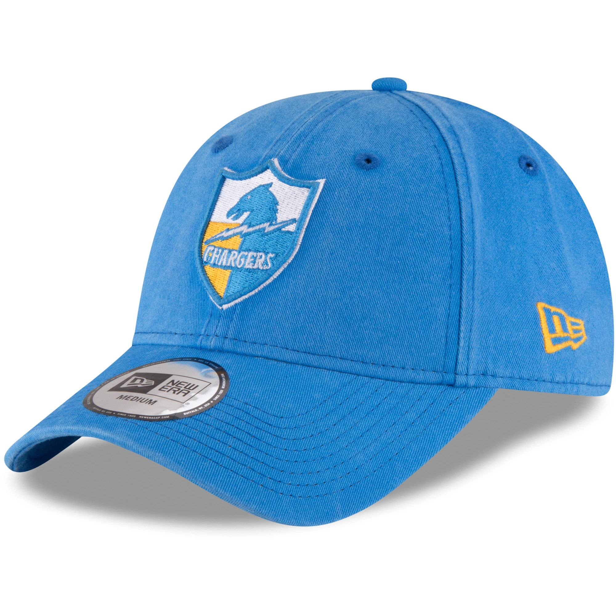 Los Angeles Chargers New Era NE Core Fit Throwback 49FORTY Fitted Hat - Light Blue