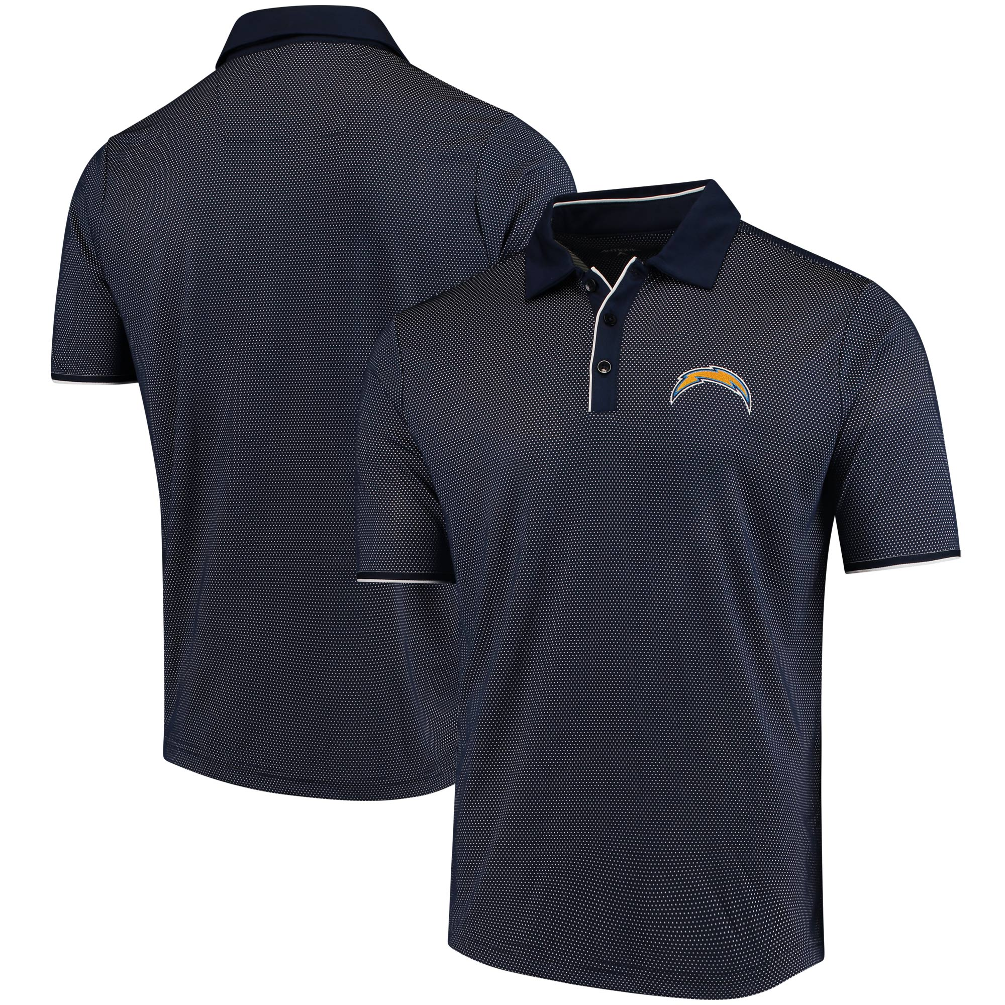 Los Angeles Chargers Antigua Draft Polo - Navy/White