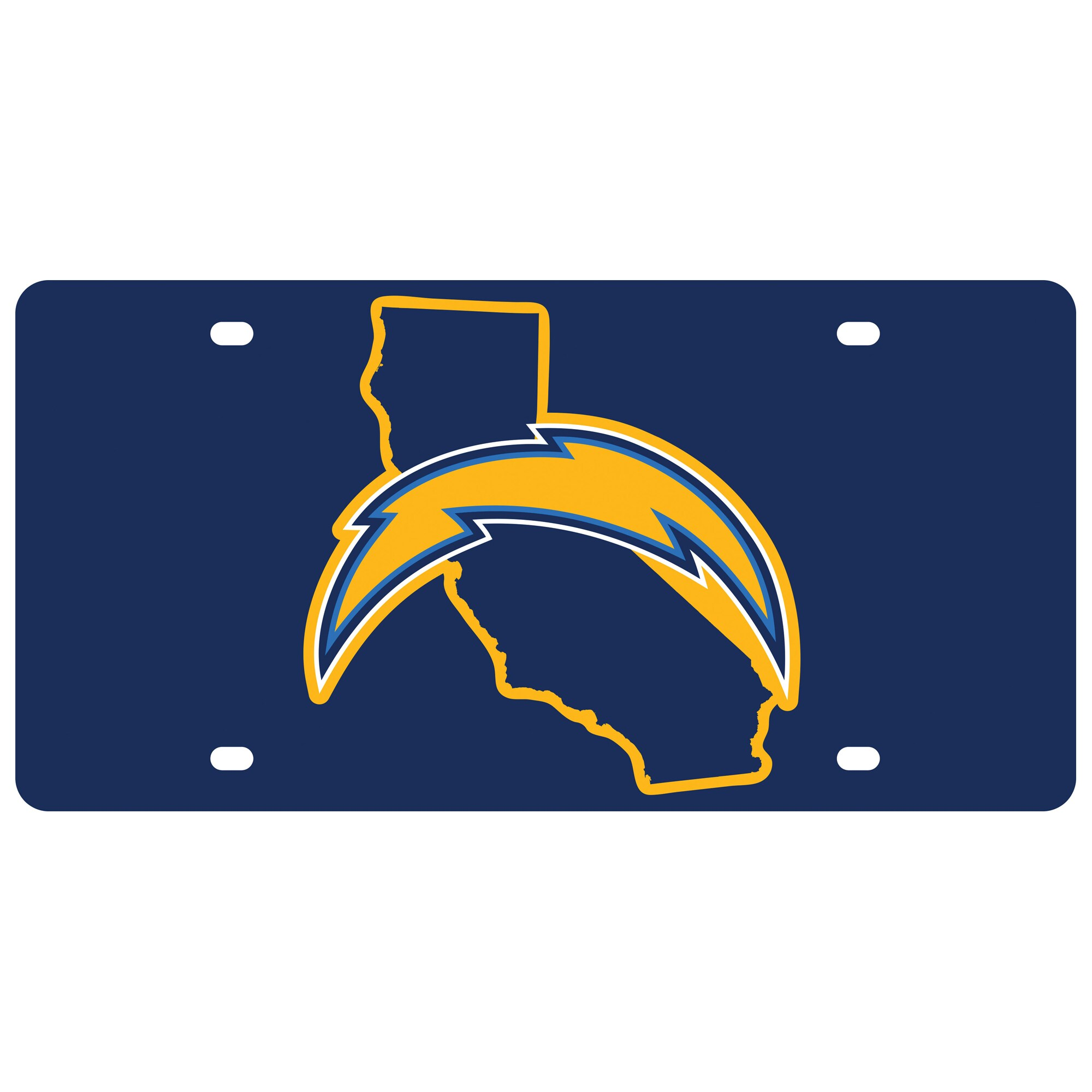Los Angeles Chargers State Pride License Plate