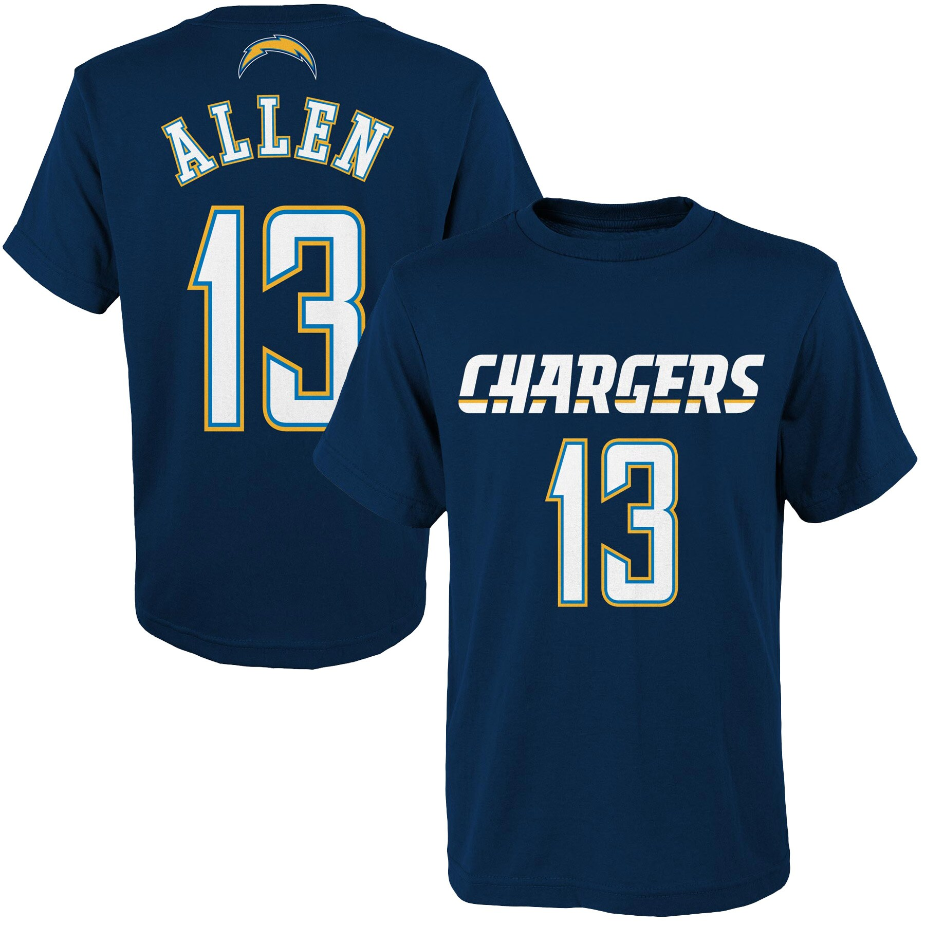 Keenan Allen Los Angeles Chargers Youth Mainliner Player Name & Number T-Shirt - Navy