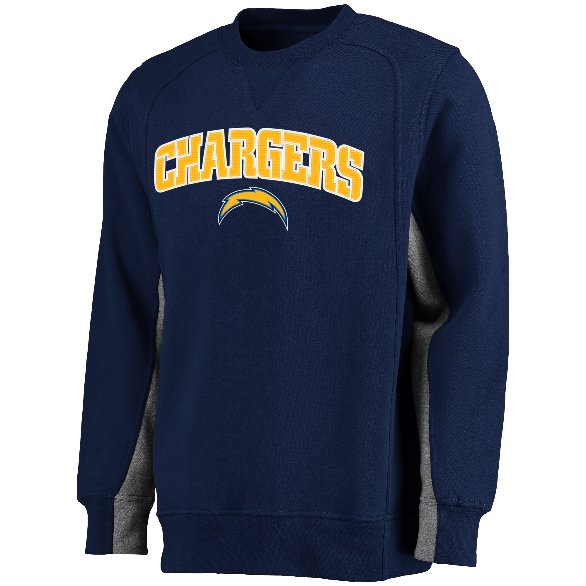 Los Angeles Chargers NFL Pro Line Kearny Crew Sweatshirt - Navy
