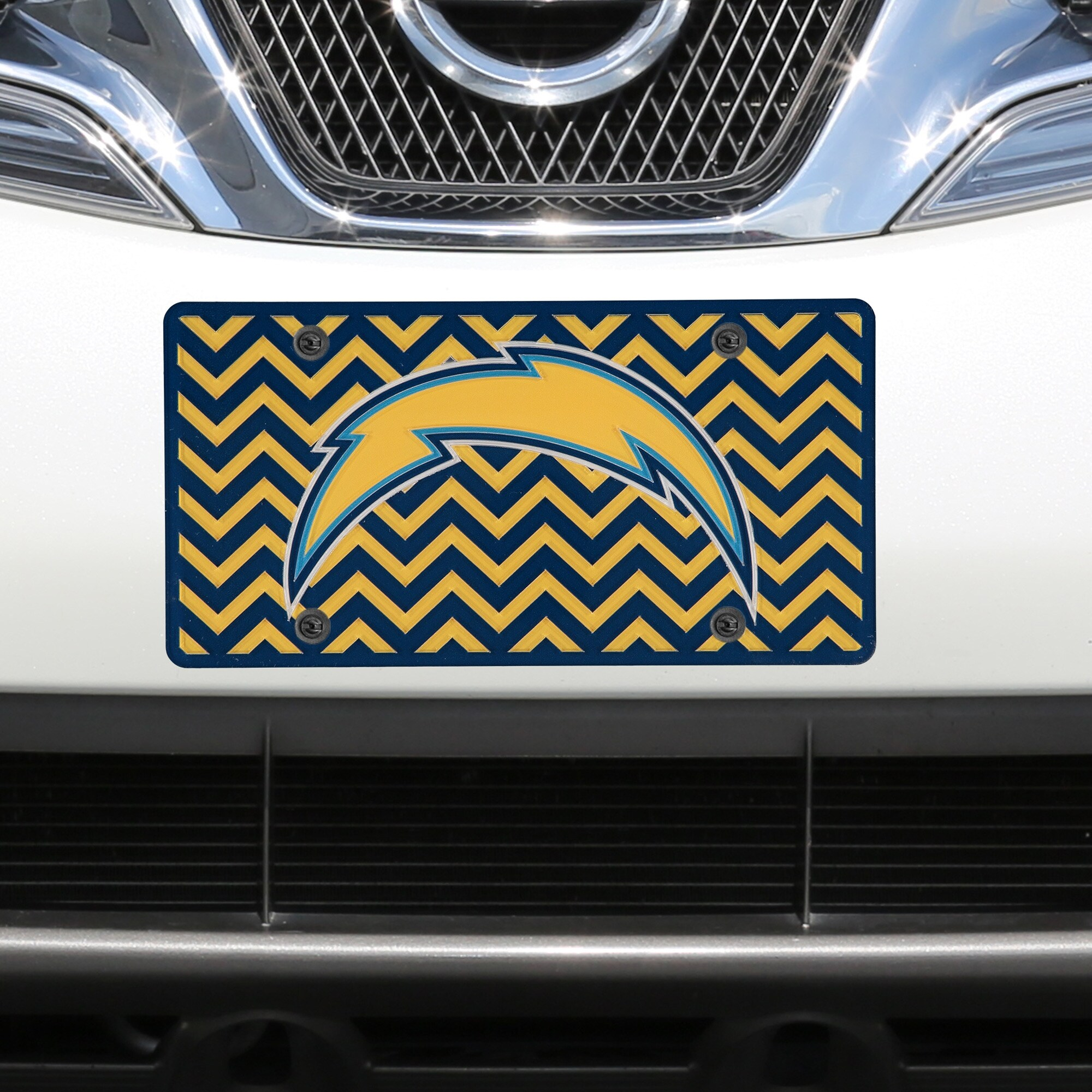 Los Angeles Chargers Chevron Acrylic Laser Cut Plate